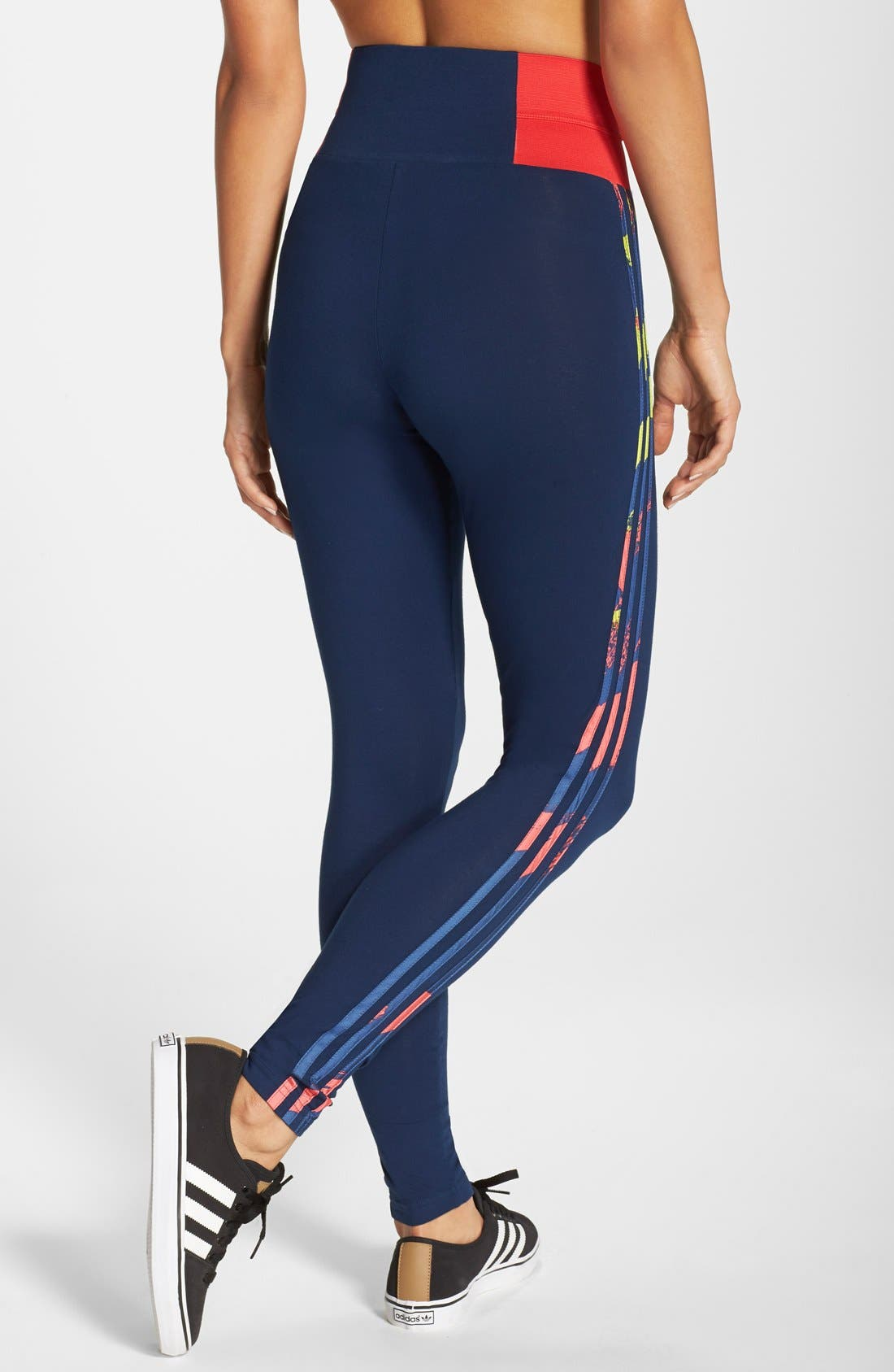 Alternate Image 2  - adidas Originals 'Paris' High Rise Leggings