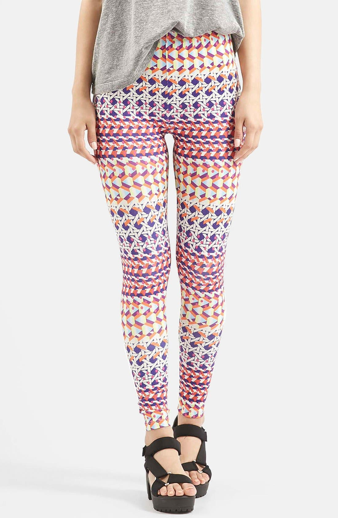 Alternate Image 1 Selected - Topshop Geo Print Leggings