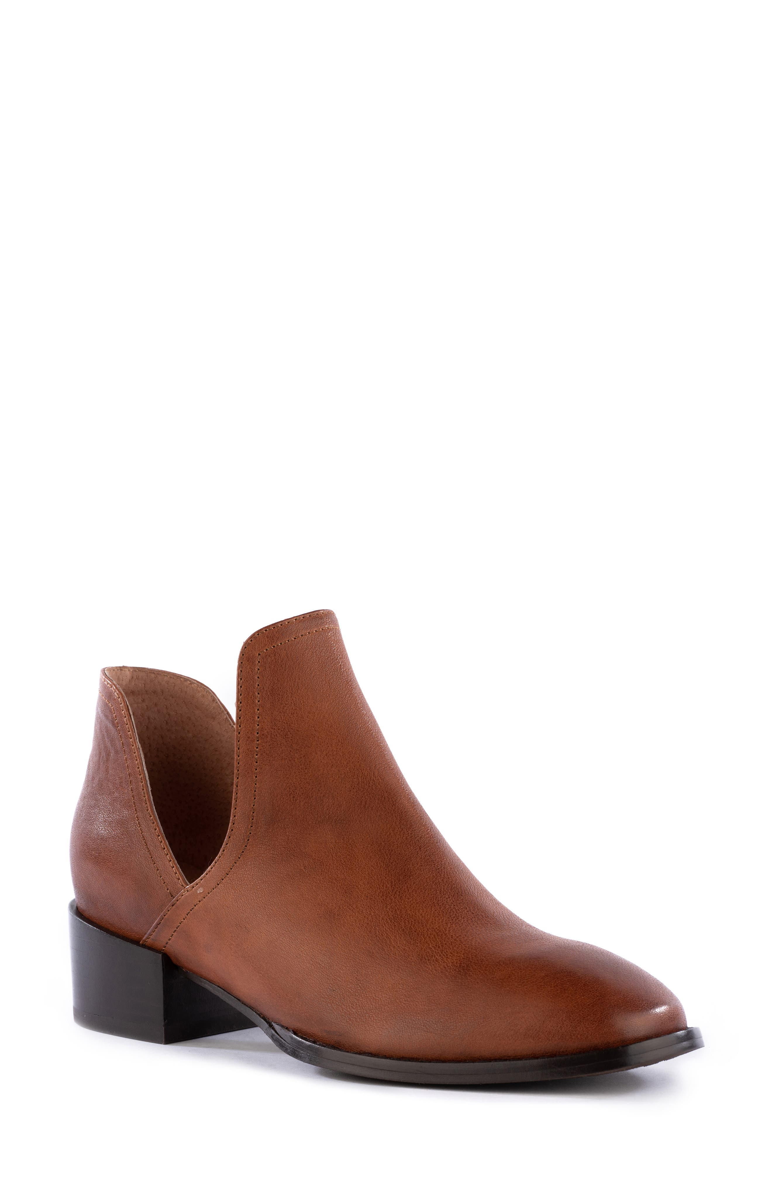 vintage tan suede brown leather ankle buckle boots slip on womens 7 12