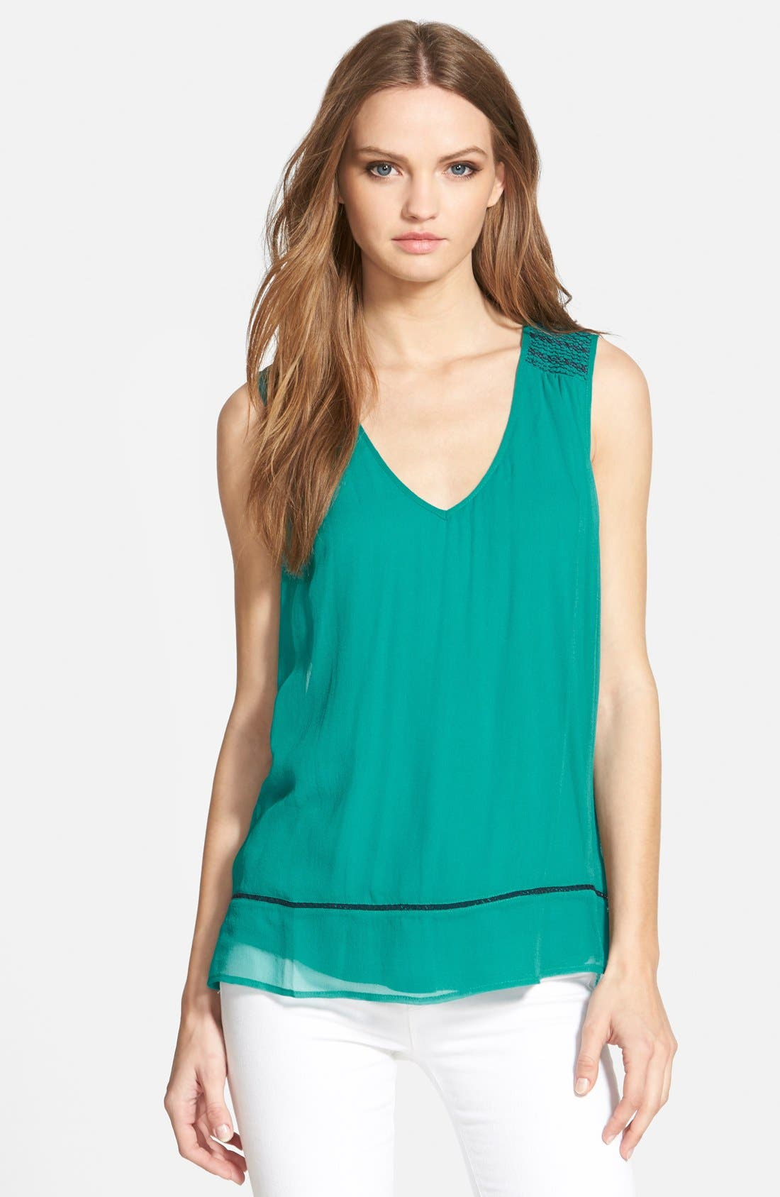 Alternate Image 1 Selected - Ella Moss 'Nile' Sleeveless Silk Tank