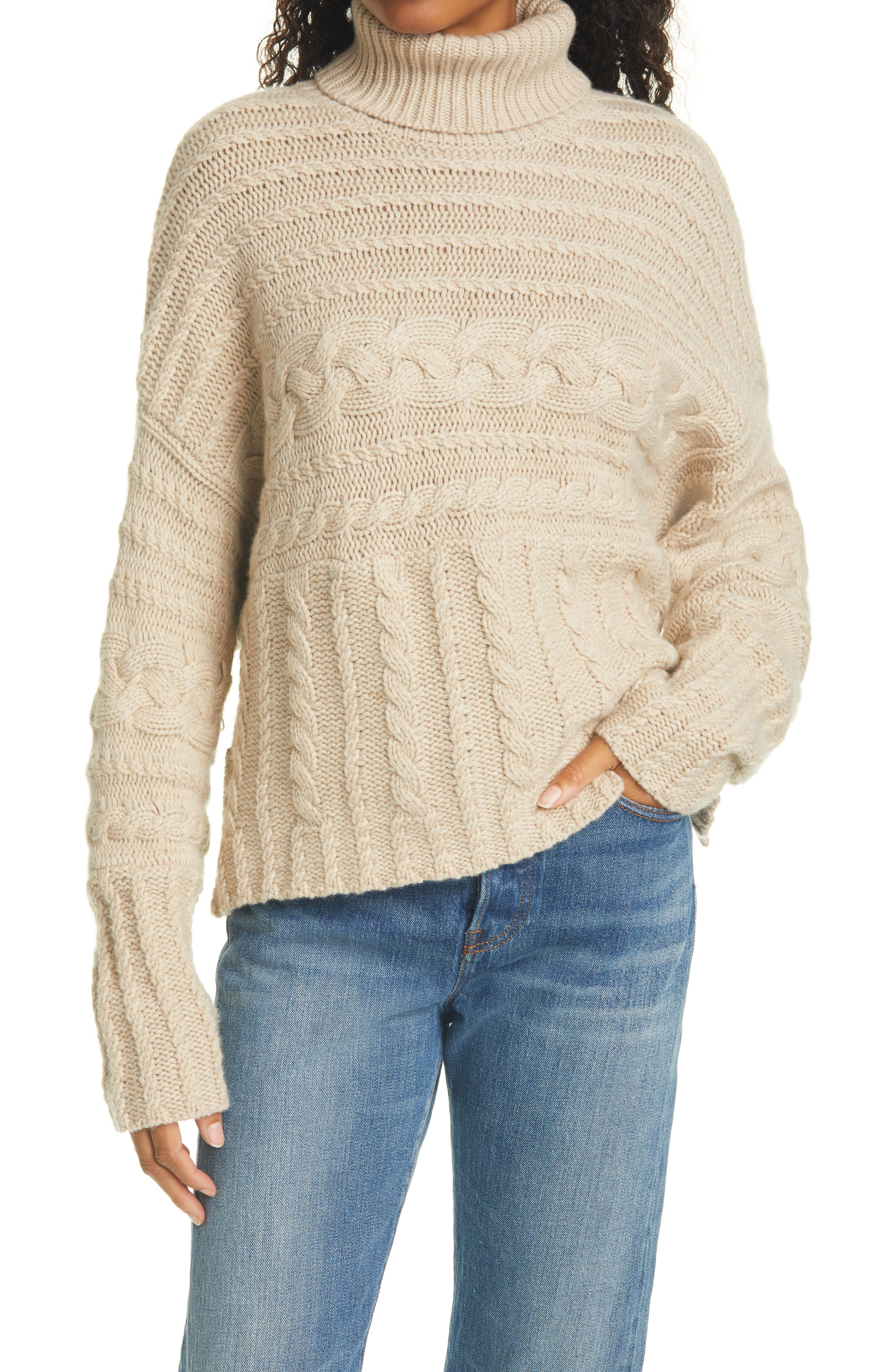 LAND/'S END CANVAS Women/'s Turtleneck Sweater Chunky Knit Black XXS 00 0 NEW