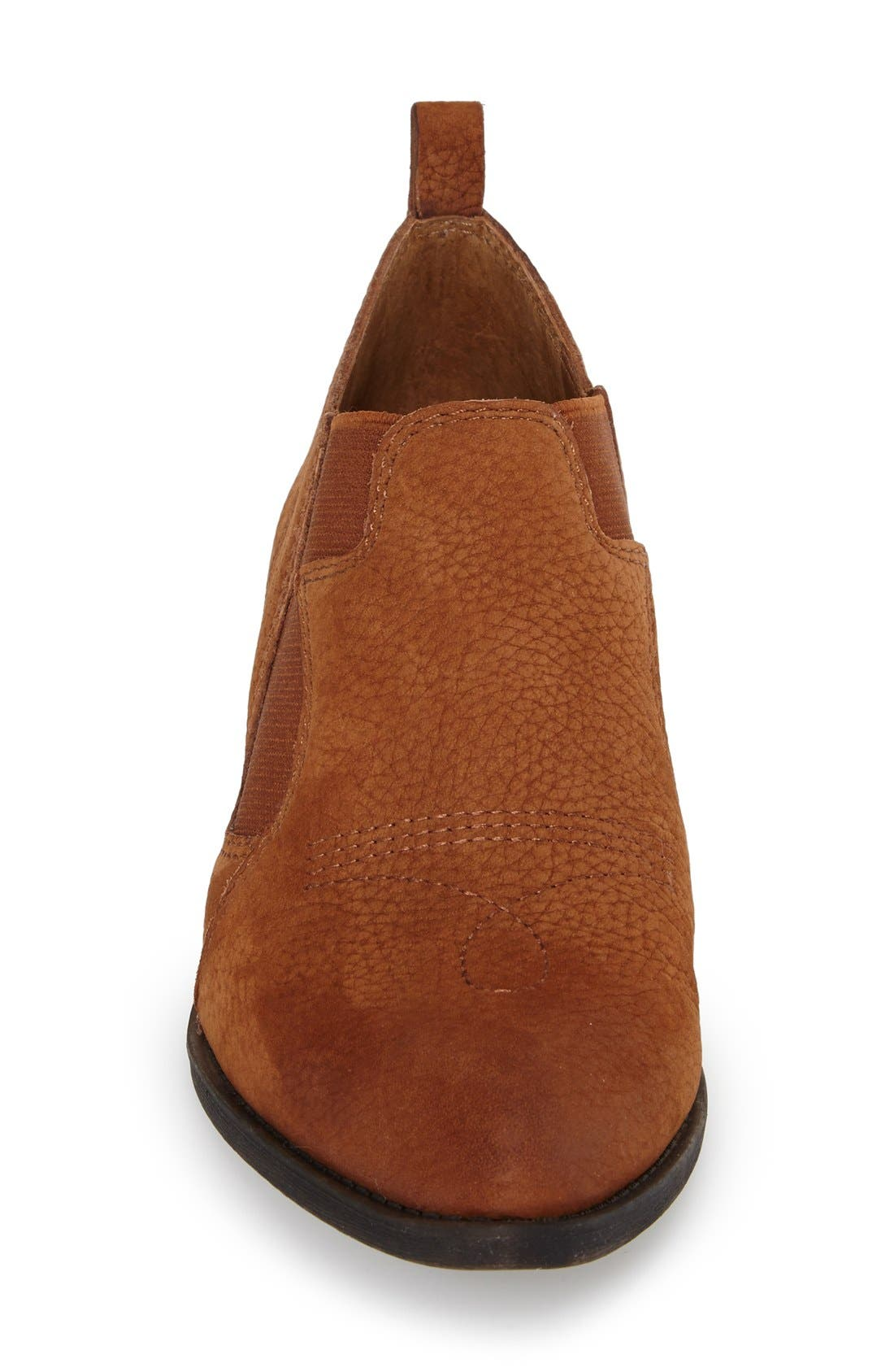 'Joelle' Western Bootie,                             Alternate thumbnail 3, color,                             Chipmunk Nubuck