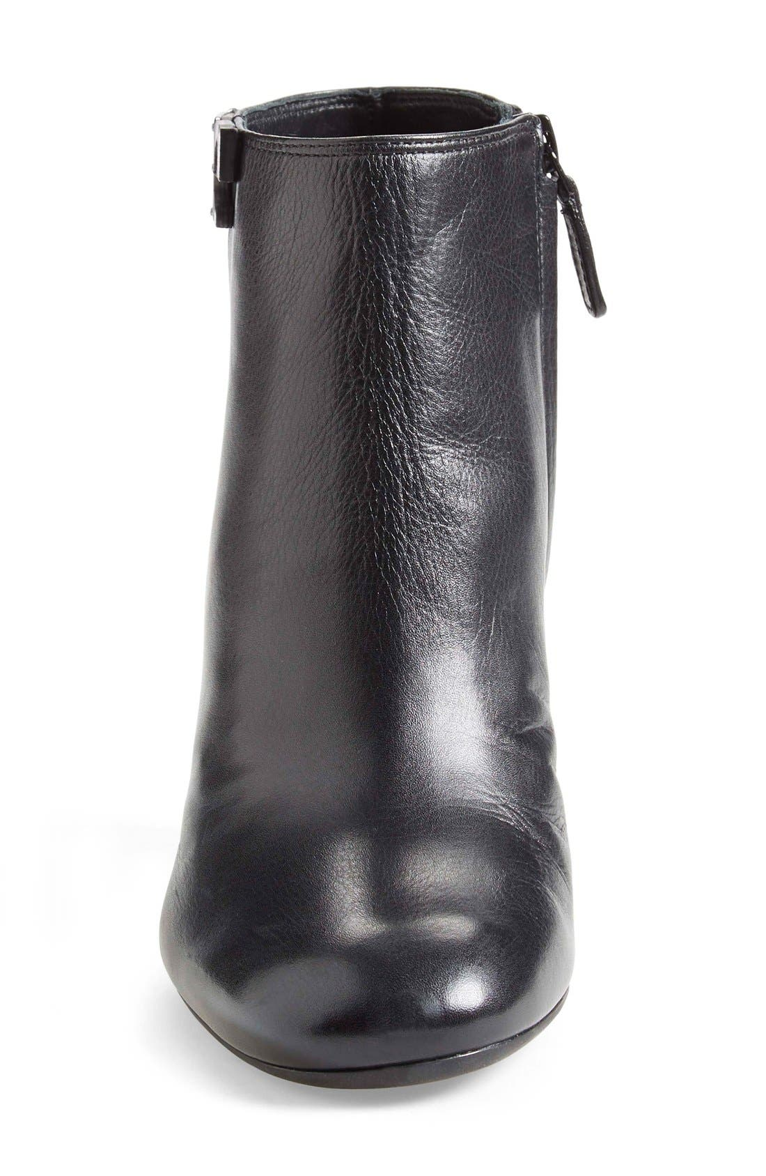 'Lowell' Wedge Bootie,                             Alternate thumbnail 3, color,                             Black Leather