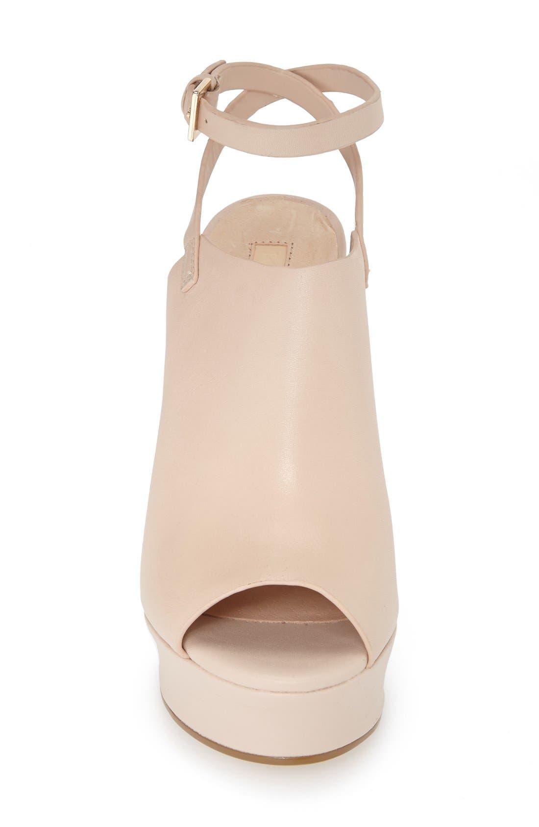 Alternate Image 4  - Topshop 'Sagittarius' Leather Ankle Strap Open Toe Platform Sandal (Women)