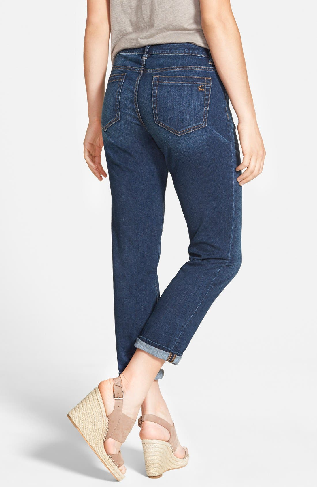Alternate Image 2  - Two by Vince Camuto Stretch Boyfriend Jeans (Authentic)