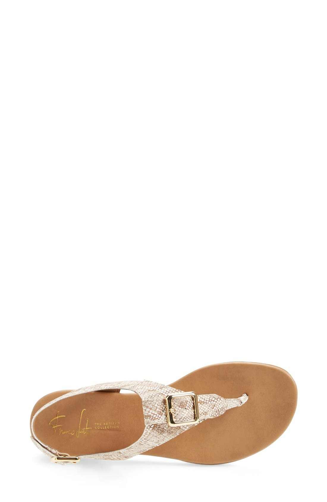 'Gita' Thong Sandal,                             Alternate thumbnail 3, color,                             Natural Snake