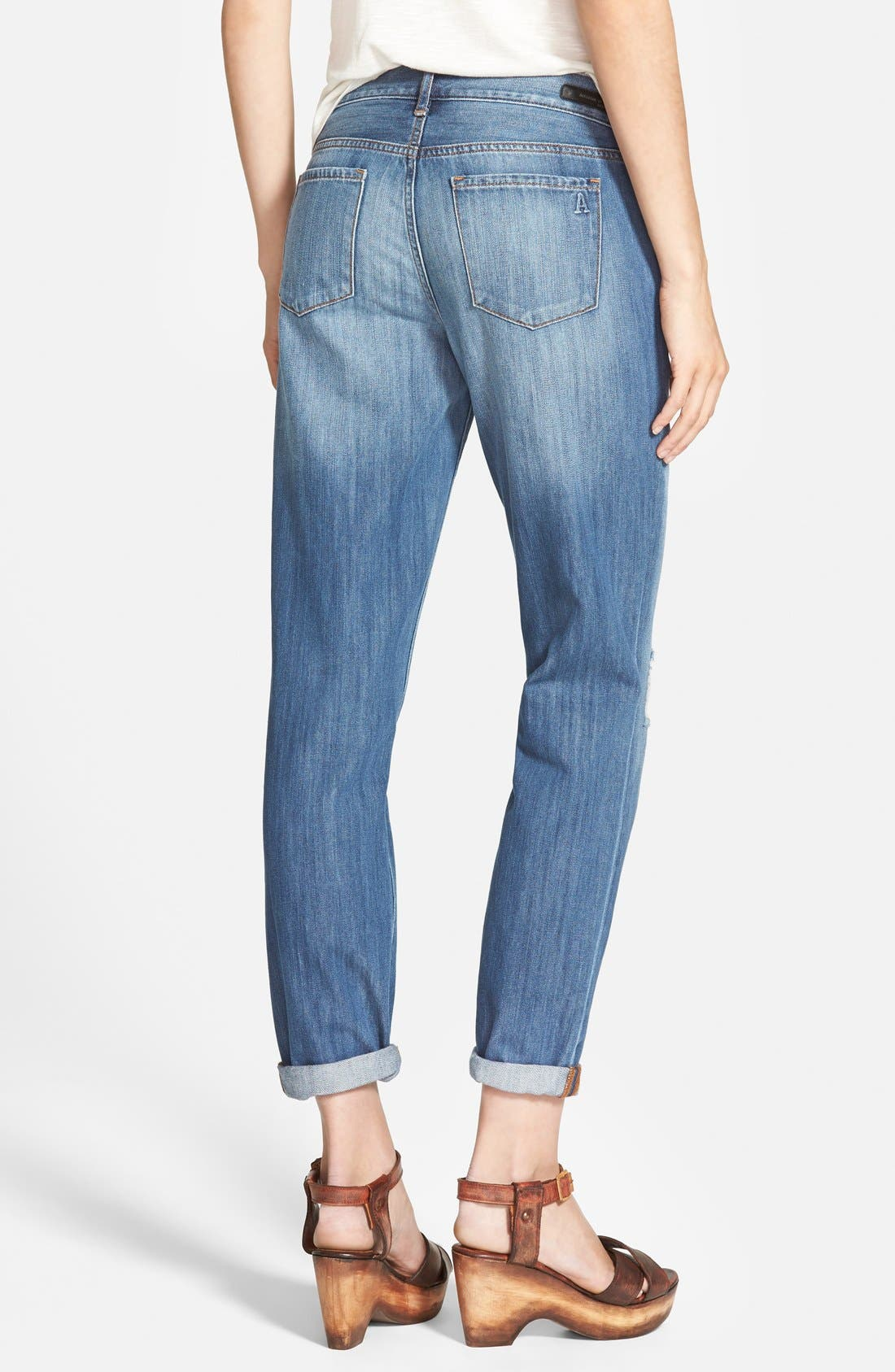 Alternate Image 2  - Articles of Society 'Cindy' Boyfriend Jeans (Medium Wash)