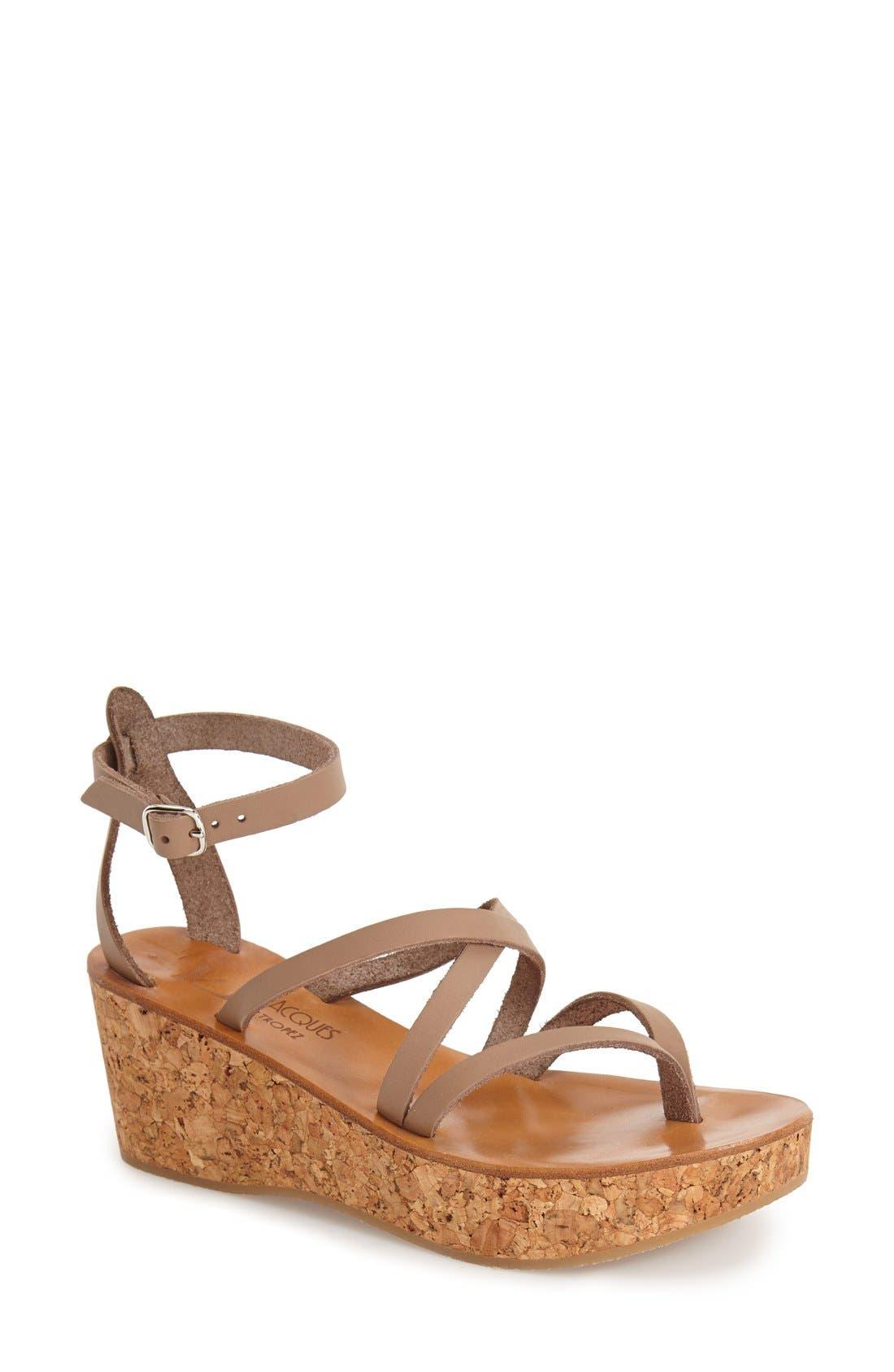 Alternate Image 1 Selected - K.Jacques St. Tropez 'Cunegonde' Wedge Sandal (Women)