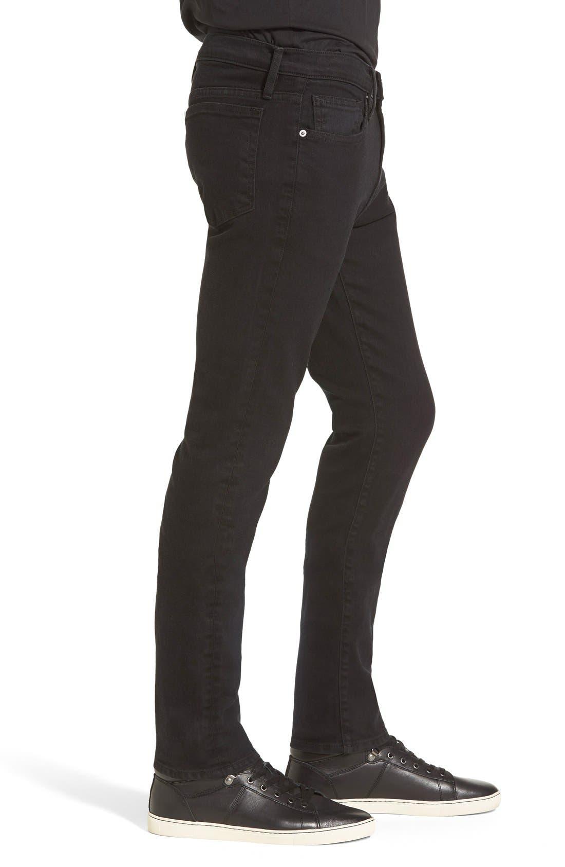 Alternate Image 3  - FRAME 'L'Homme' Skinny Fit Jeans (Noir)