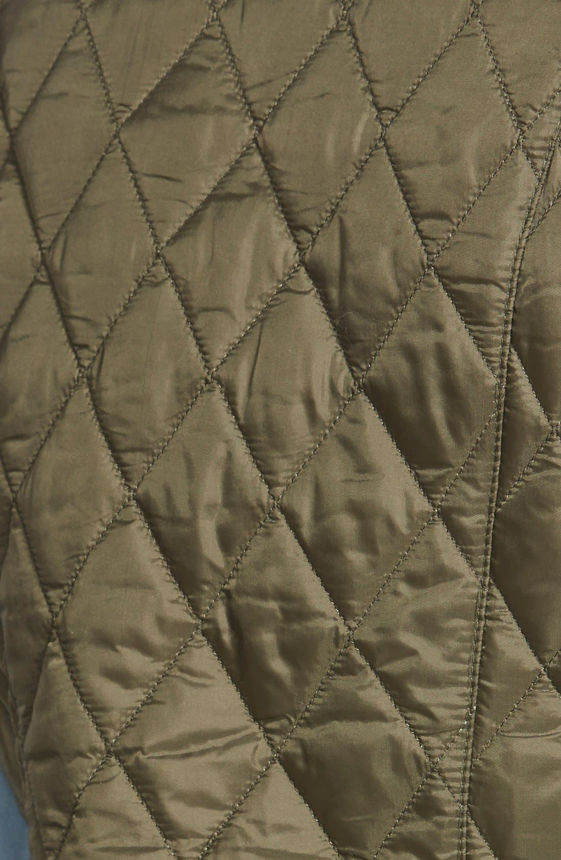 'Beadnell' Quilted Liner,                             Alternate thumbnail 3, color,                             Olive