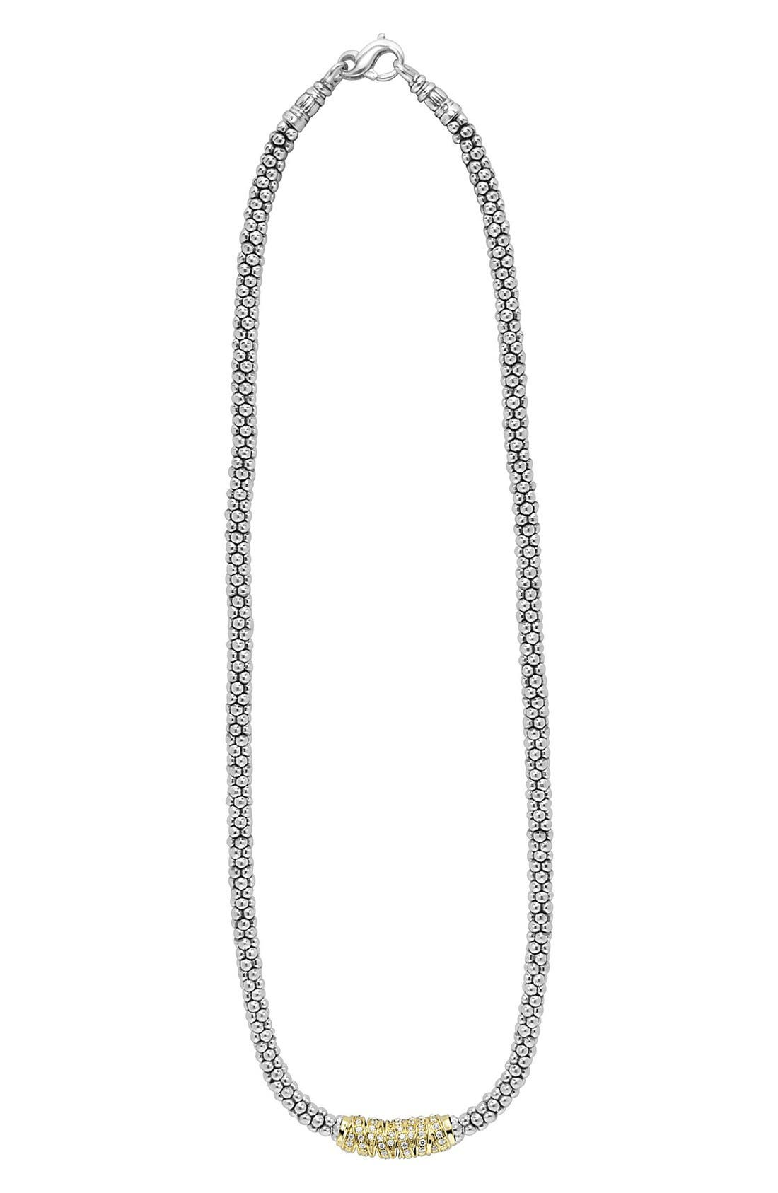 Embrace Rope Necklace,                         Main,                         color, Silver/ Gold