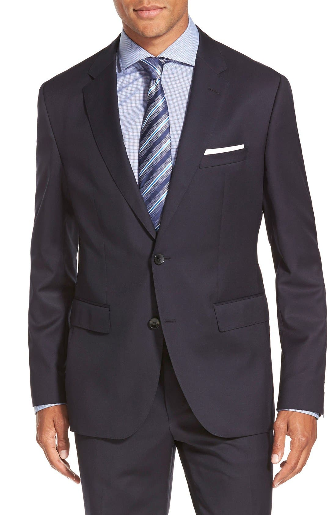 Johnstons/Lenon Classic Fit Wool Suit,                             Alternate thumbnail 4, color,                             Navy