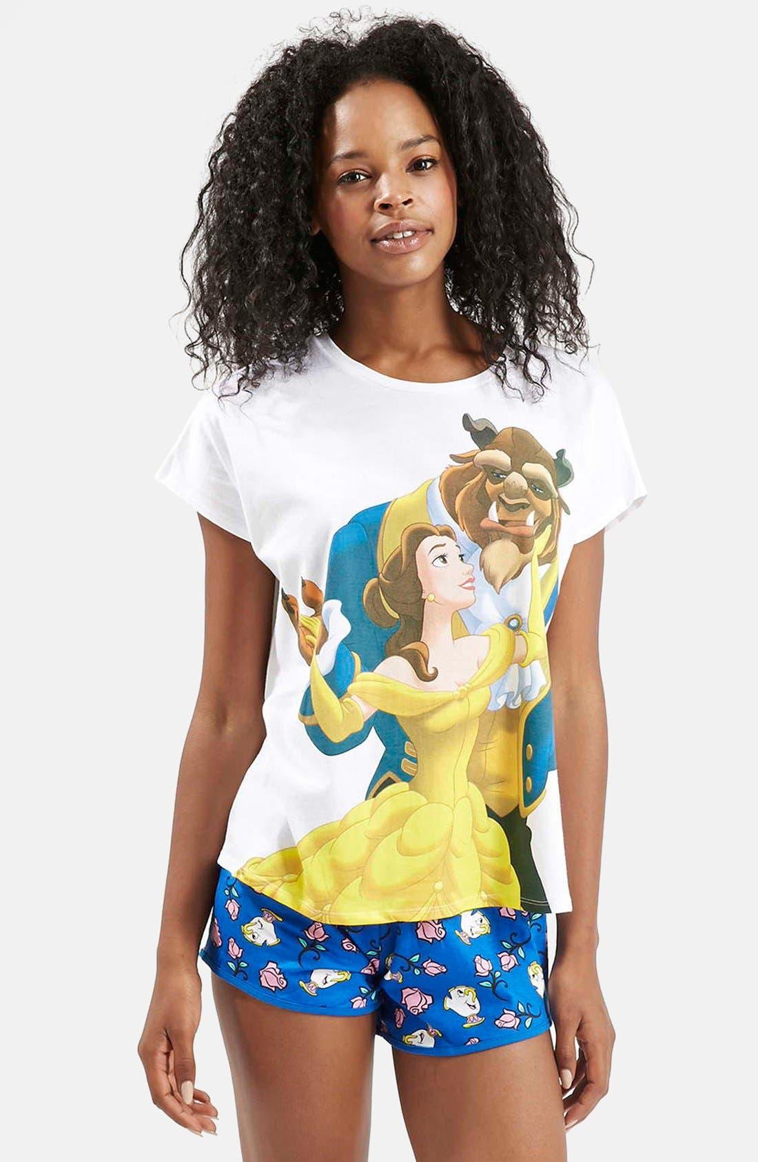 Alternate Image 1 Selected - Topshop Beauty & The Beast Pajama Set