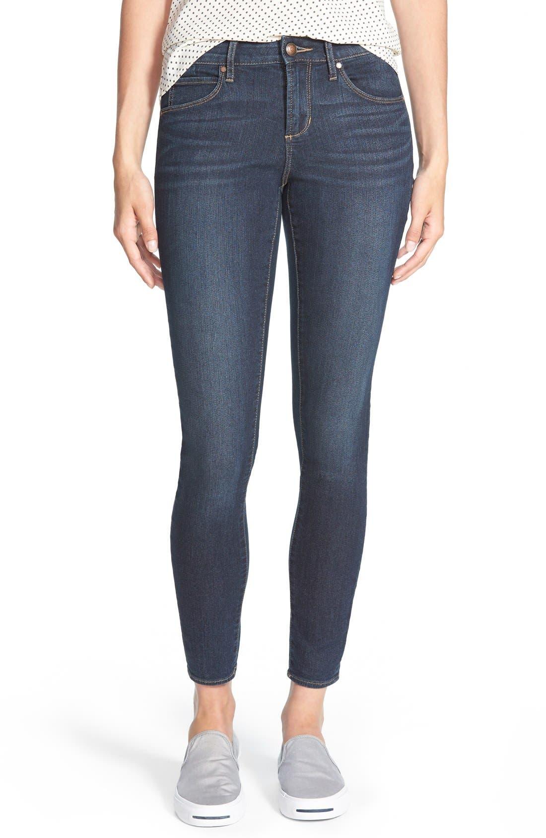 Main Image - Articles of Society 'Sarah' Skinny Jeans (Blue Moon)