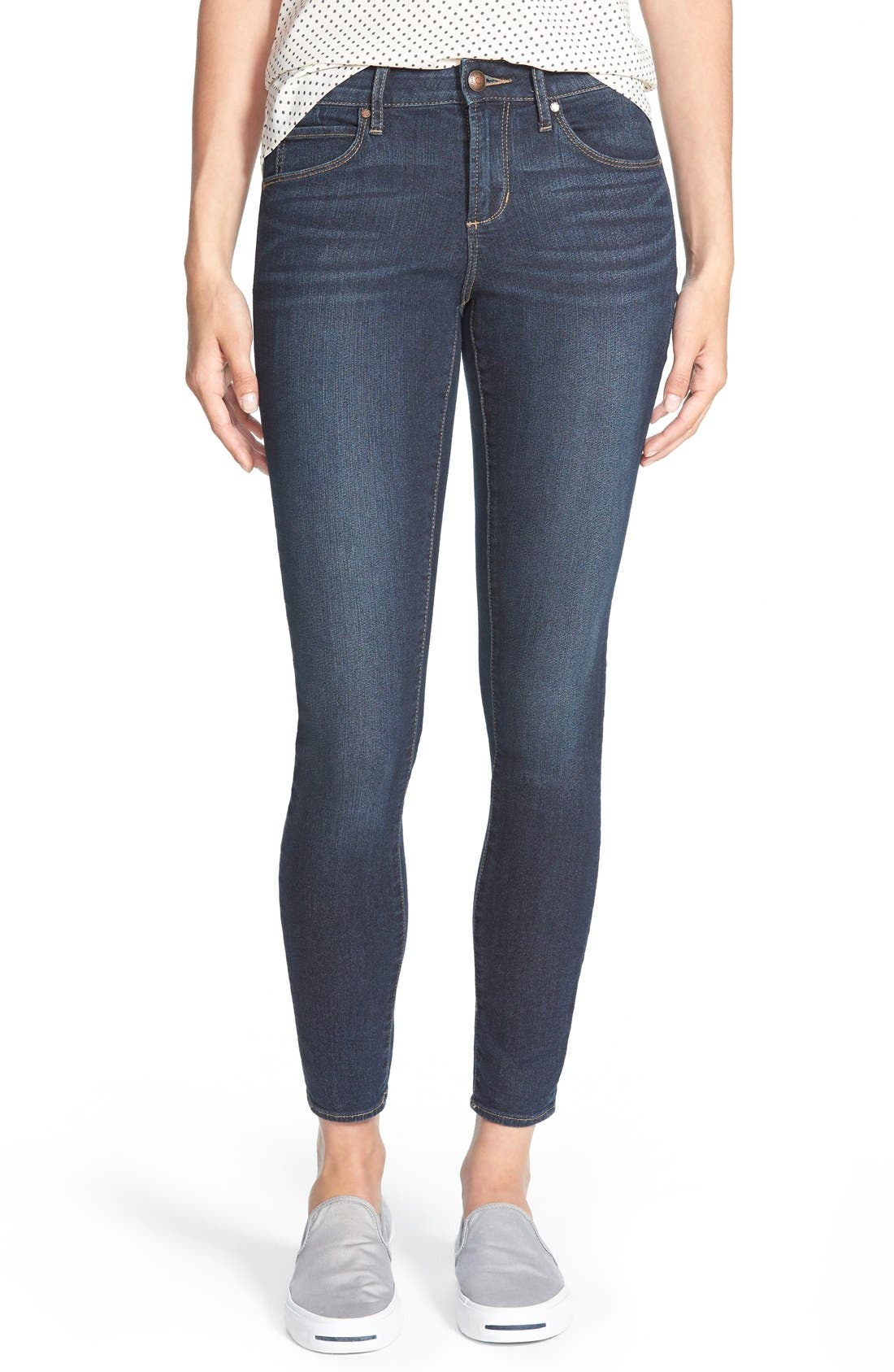 'Sarah' Skinny Jeans,                         Main,                         color, Blue Moon