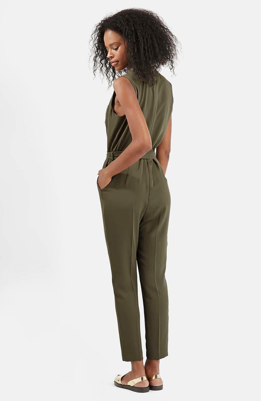 Alternate Image 2  - Topshop Drape Front Jumpsuit