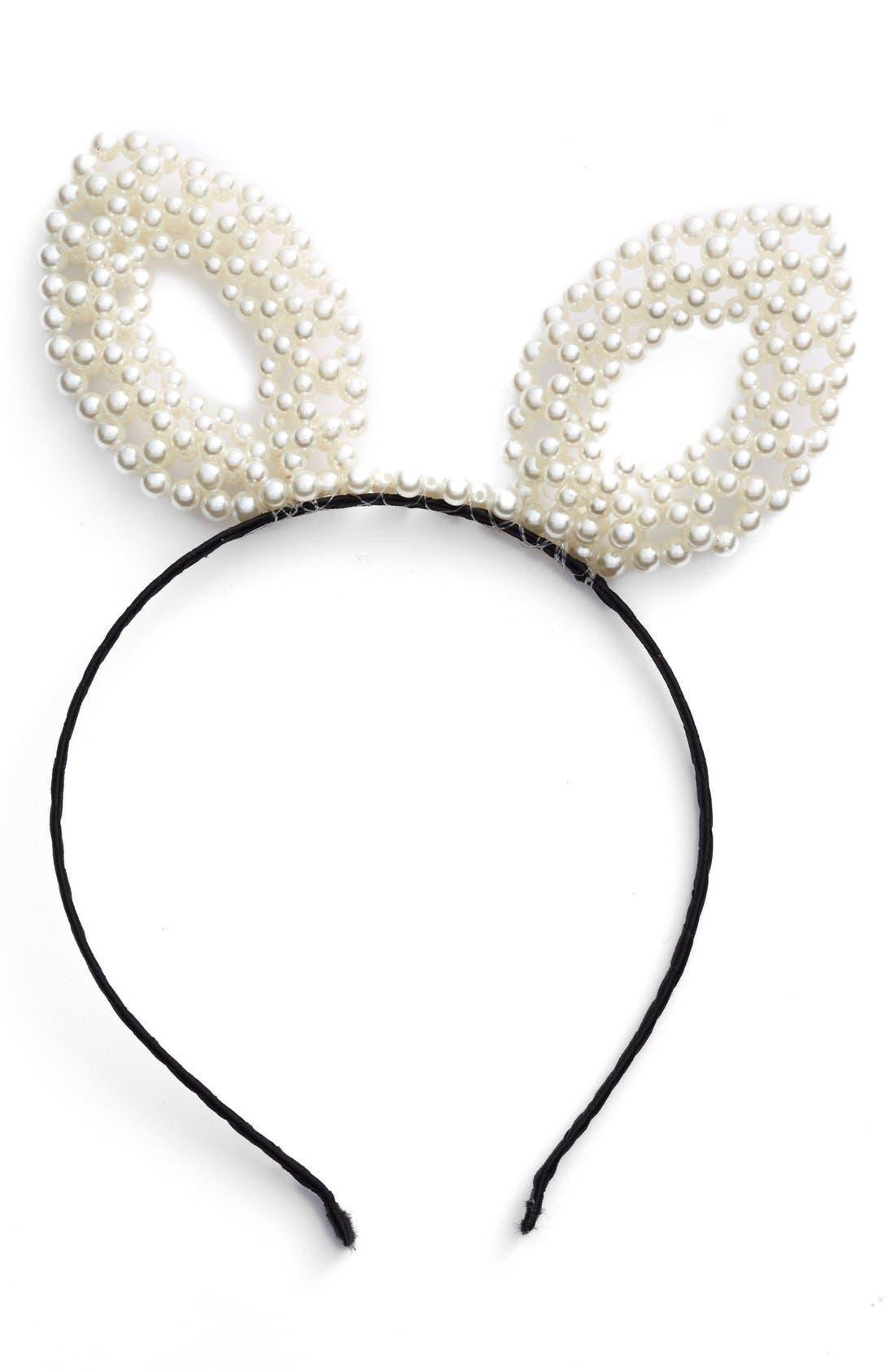 Main Image - BP. Pearly Bunny Ear Headband