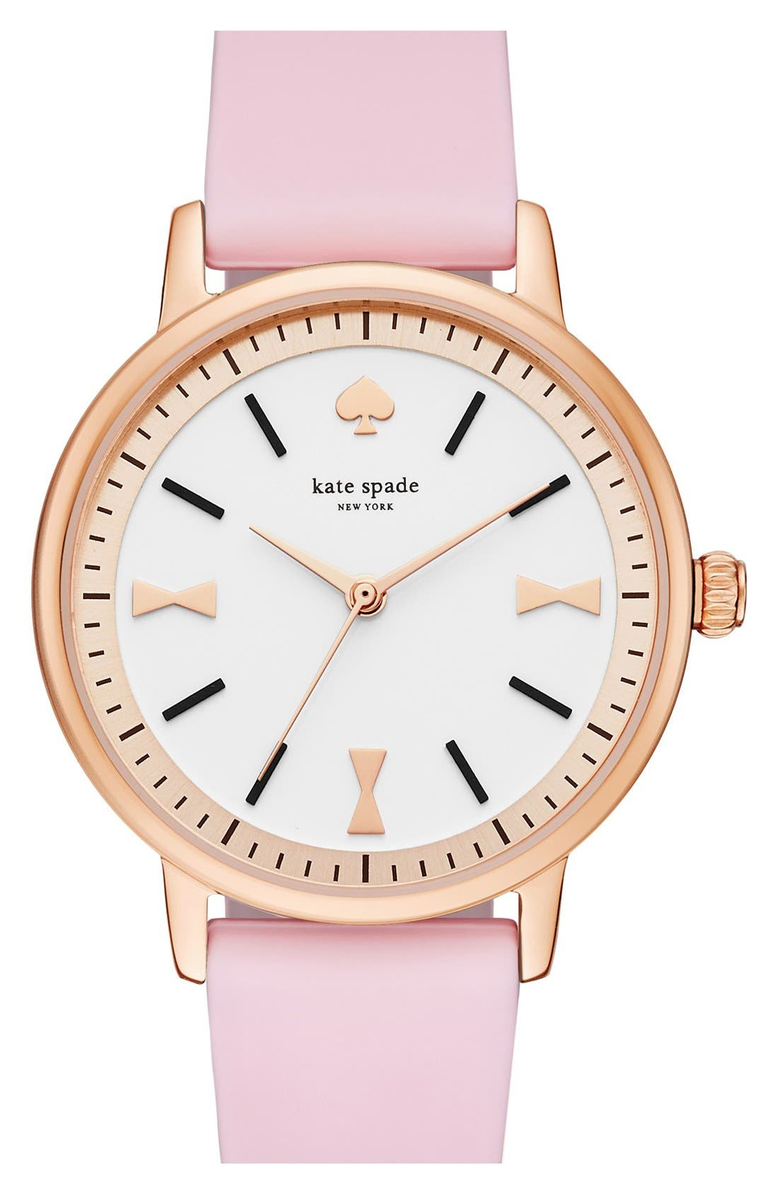 Alternate Image 1 Selected - kate spade new york 'crosby' silicone strap watch, 34mm