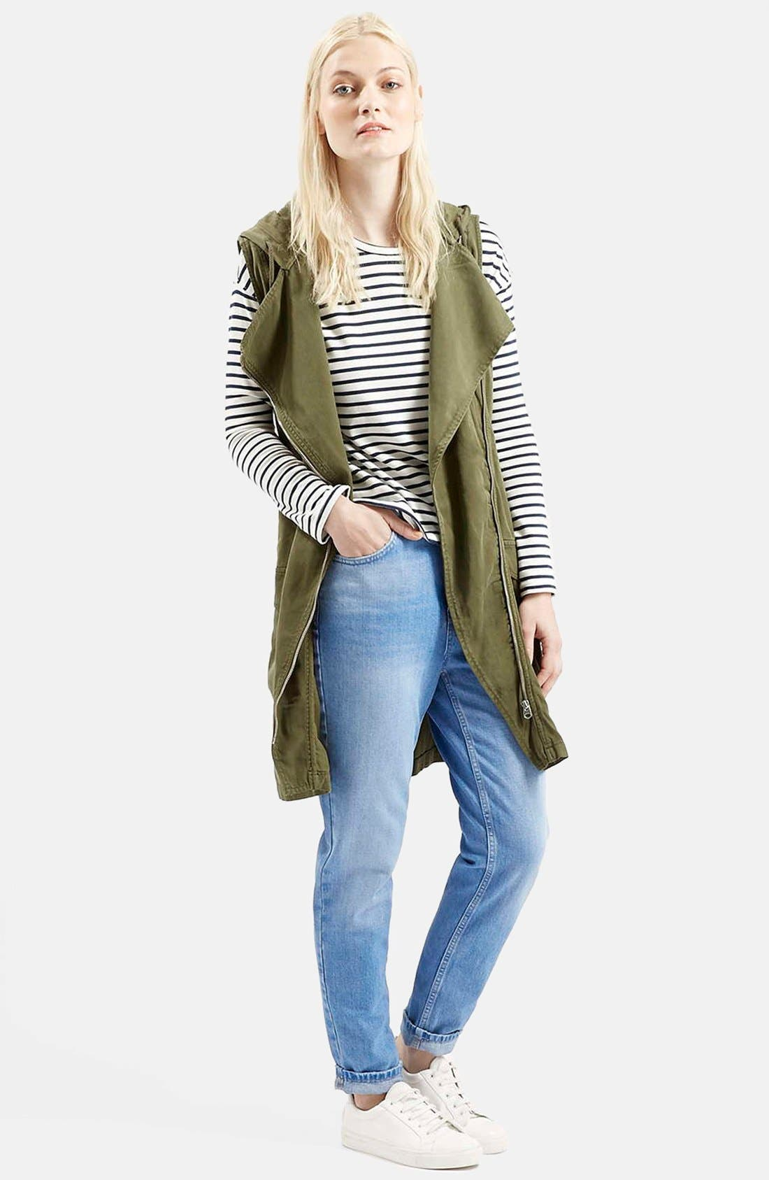 Alternate Image 1 Selected - Topshop Sleeveless Hooded Parka