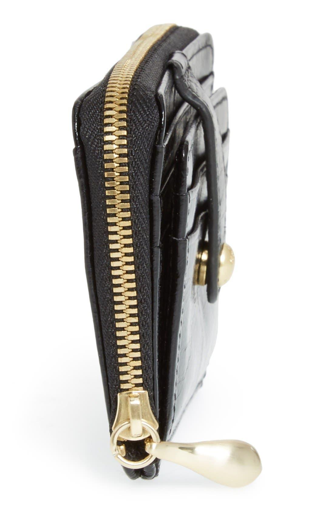'Katya' Leather Wallet,                             Alternate thumbnail 5, color,                             Black
