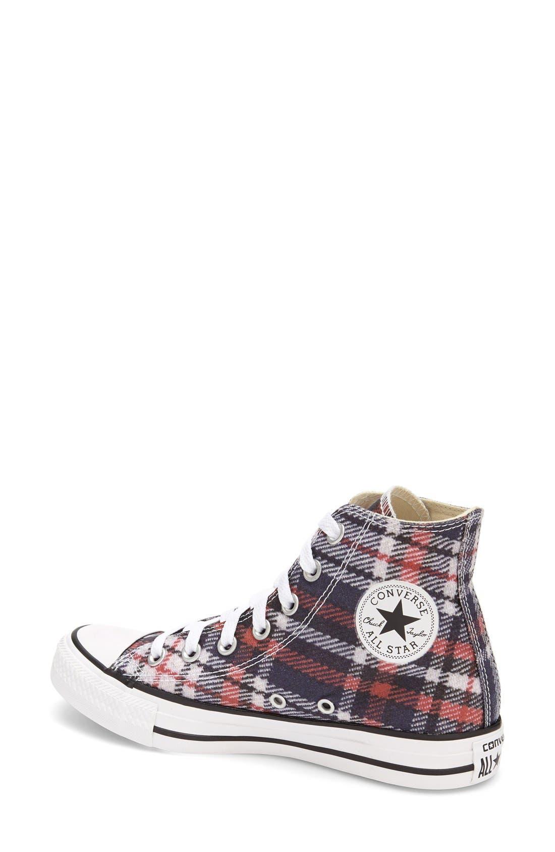 Alternate Image 2  - Converse Chuck Taylor® All Star® Plaid High Top Sneaker (Women)