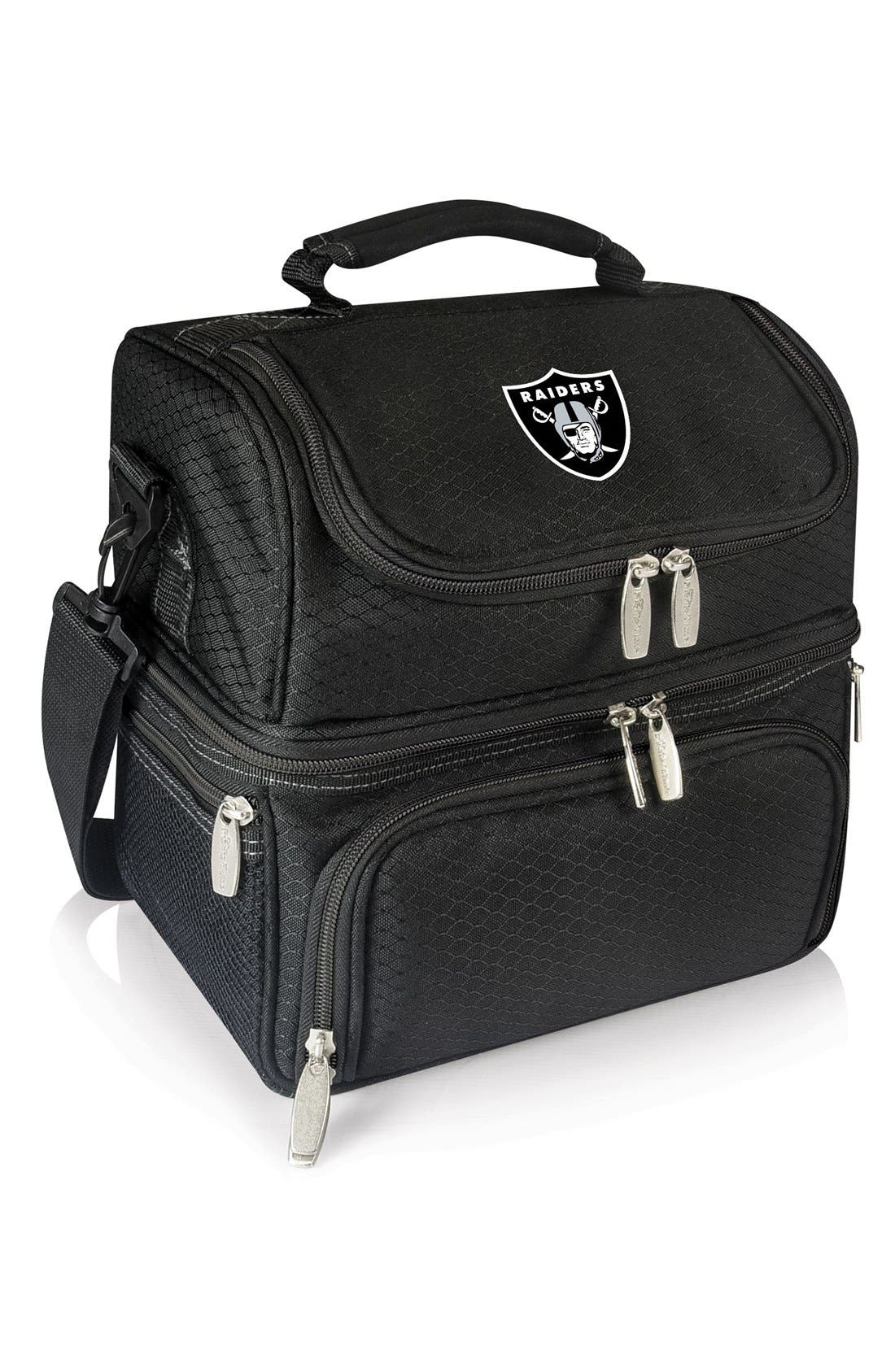 'Pranzo' NFL Insulated Lunch Box,                             Main thumbnail 1, color,                             Oakland Raiders/ Black
