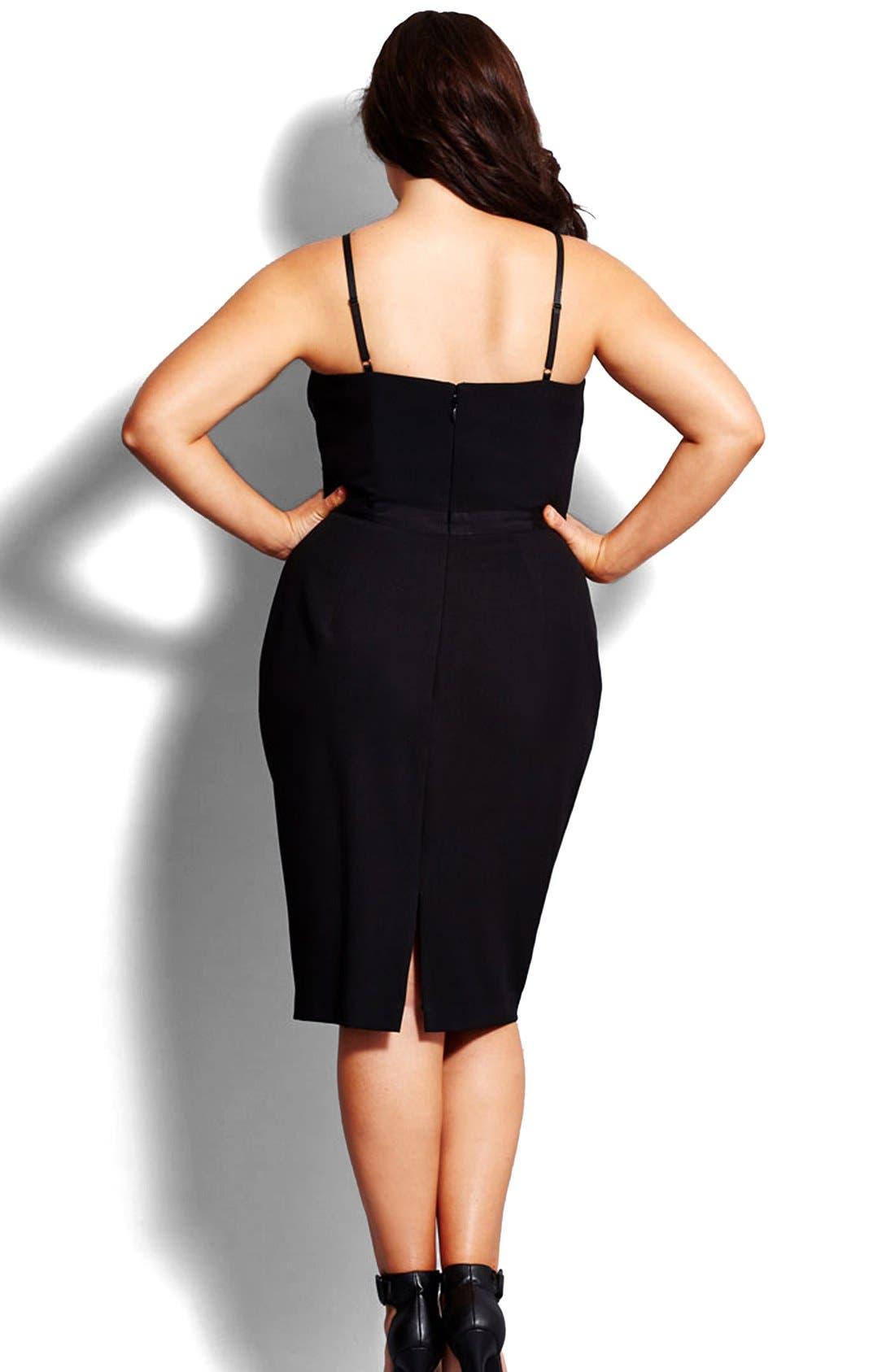 Alternate Image 2  - City Chic 'Undress Me' Dress (Plus Size)