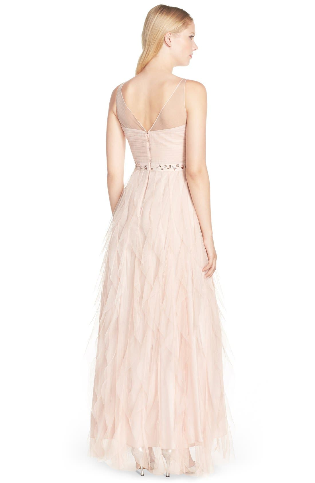 Alternate Image 2  - Adrianna Papell Embellished Tiered Chiffon Gown