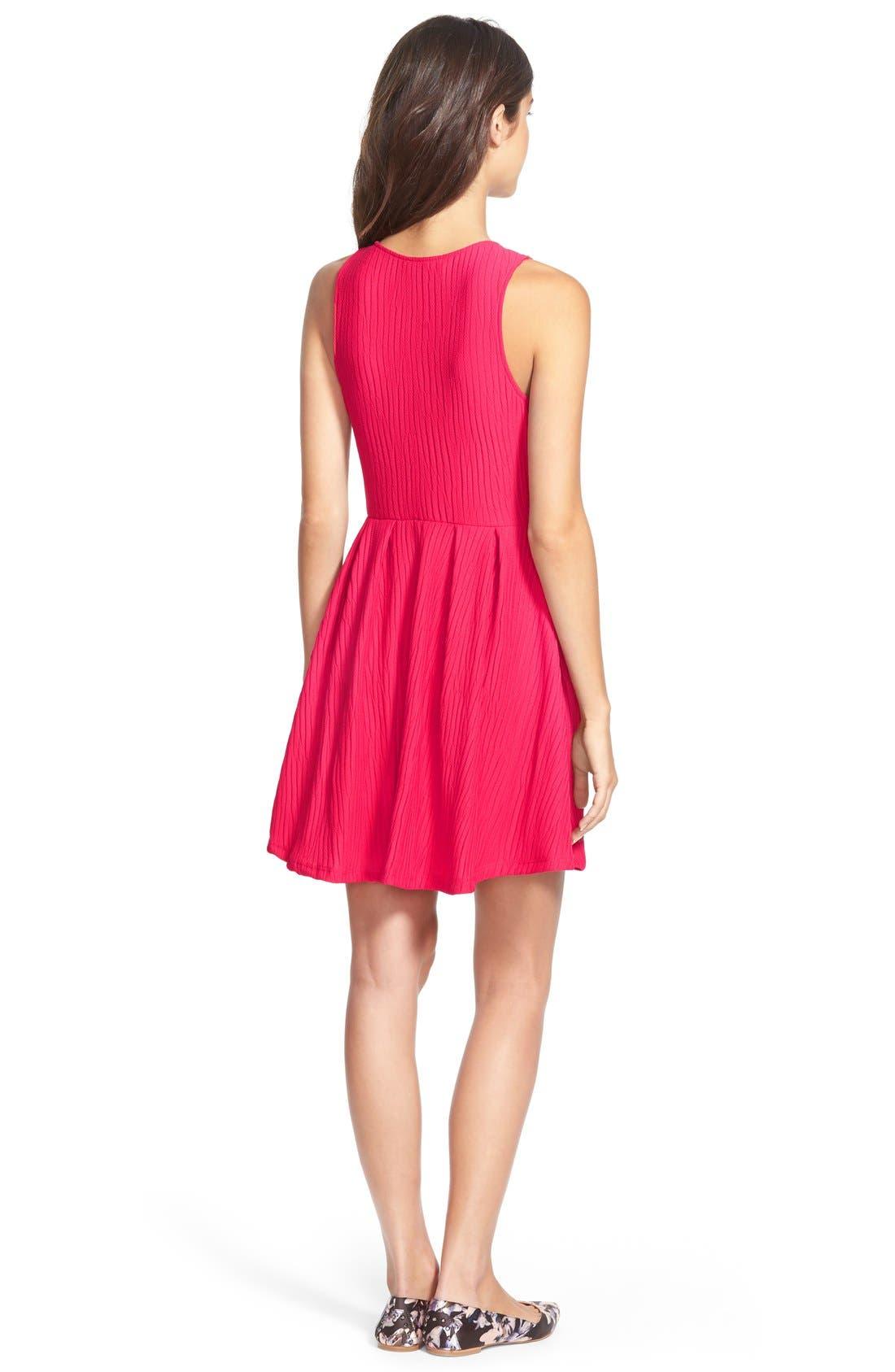 Alternate Image 2  - Lush Knit Skater Dress