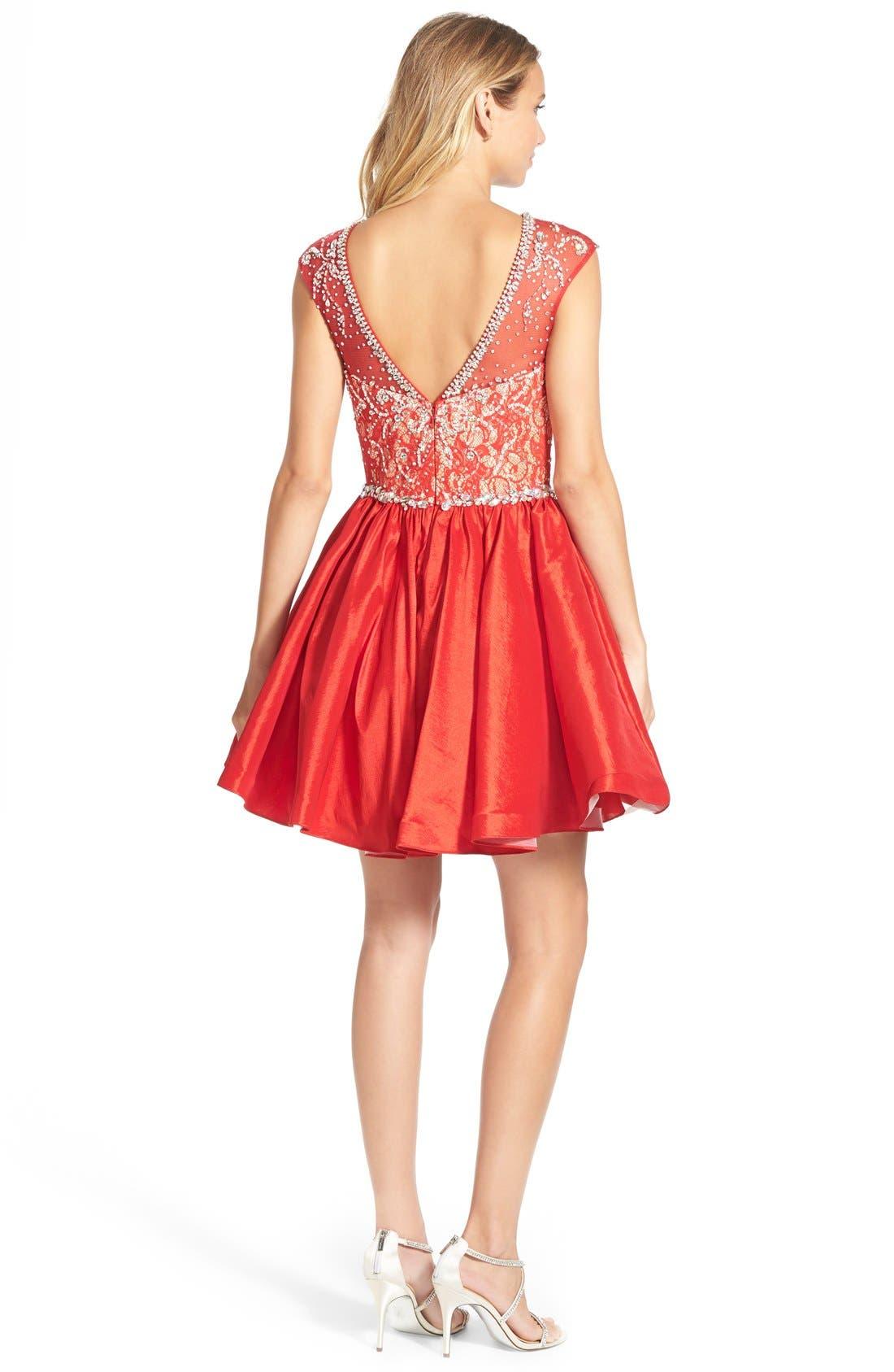 Alternate Image 2  - Mac Duggal Embellished Bodice Skater Dress