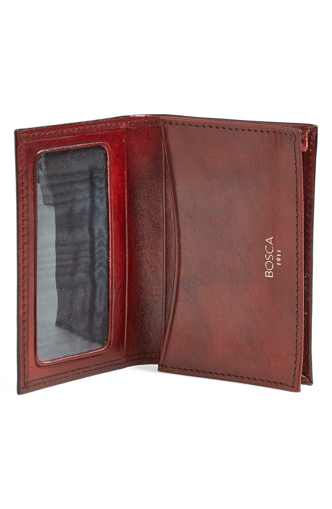 'Old Leather' Gusset Wallet,                             Alternate thumbnail 2, color,                             Dark Brown
