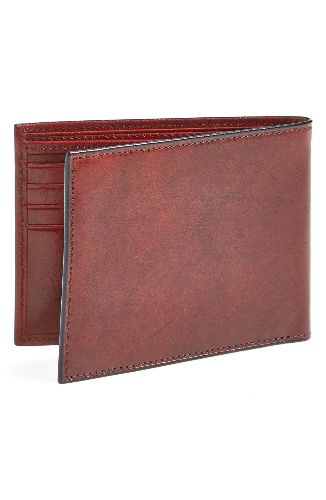 'Old Leather' Deluxe Wallet,                             Alternate thumbnail 3, color,                             Dark Brown