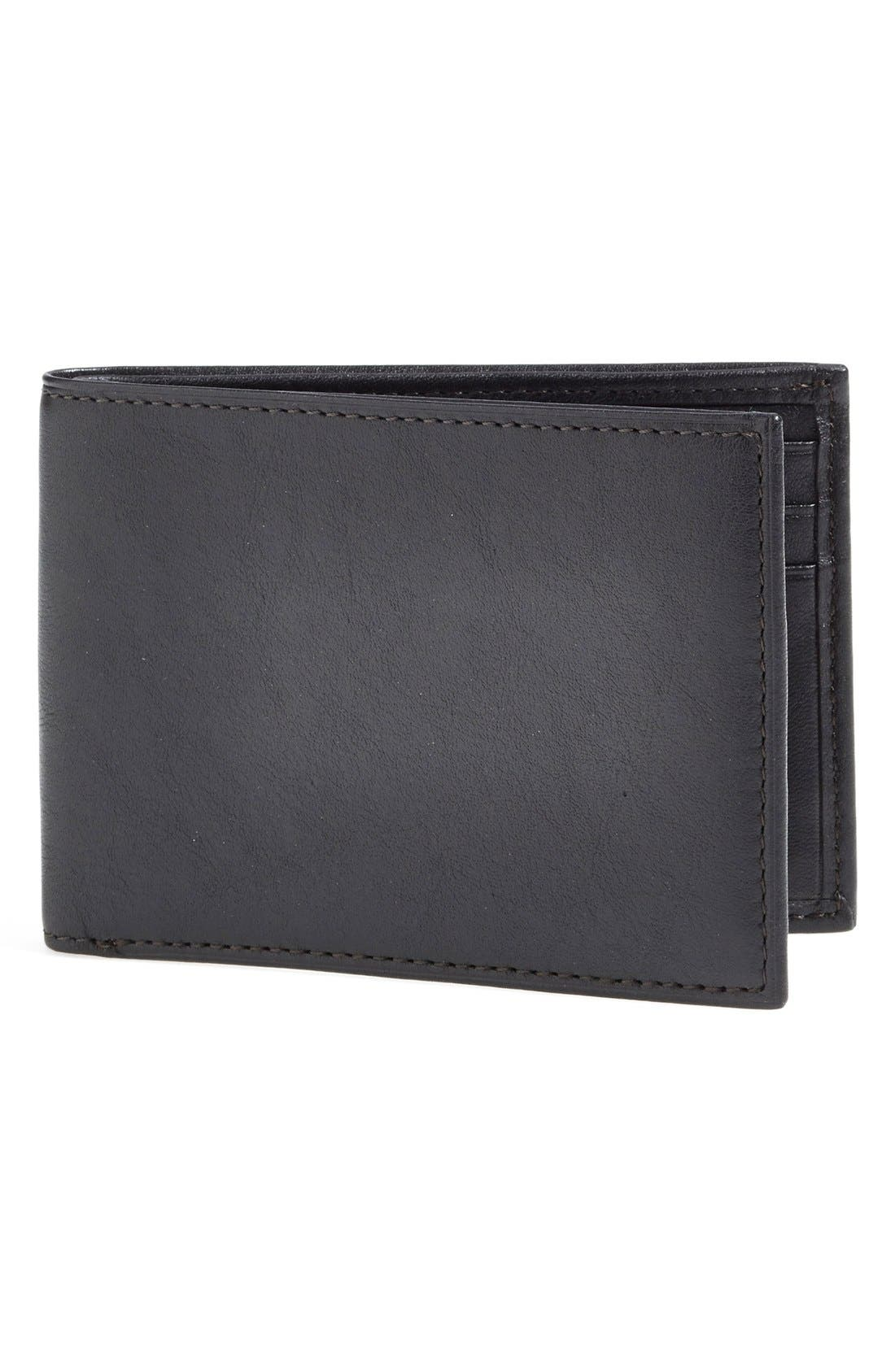 Small Bifold Wallet,                         Main,                         color, Black