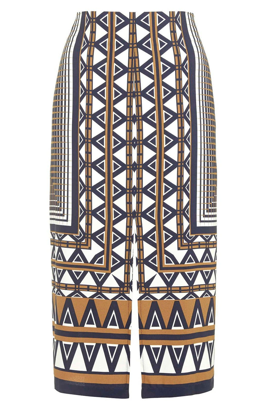 Alternate Image 4  - Topshop Print Midi Skirt