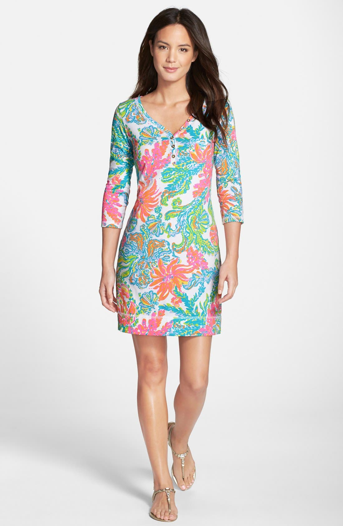 Alternate Image 3  - Lilly Pulitzer® 'Palmetto' Print Pima Cotton T-Shirt Dress