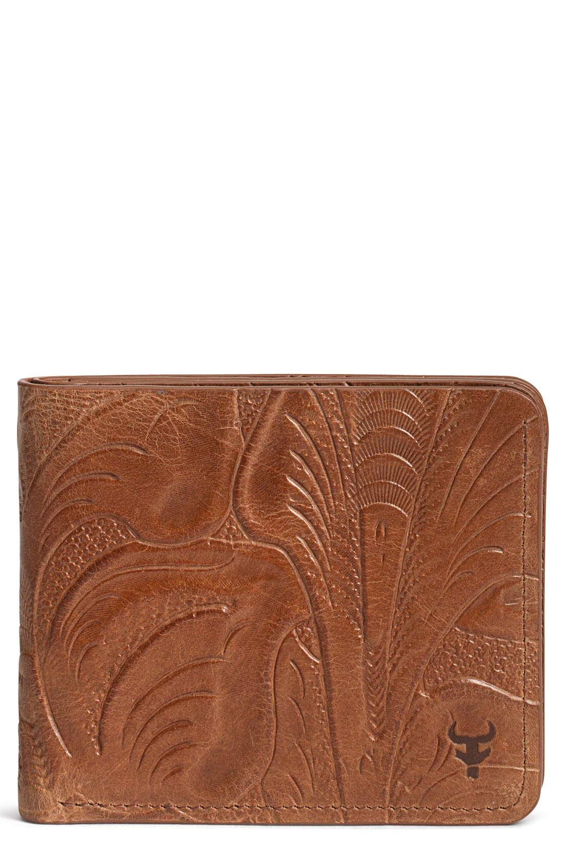 'Jackson' Slimfold Italian Steer Leather Wallet,                         Main,                         color, Tan