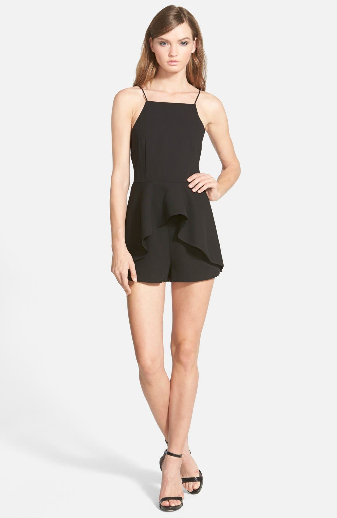 Main Image - Finders Keepers the Label 'Speakerbox' Strappy Ruffle Romper