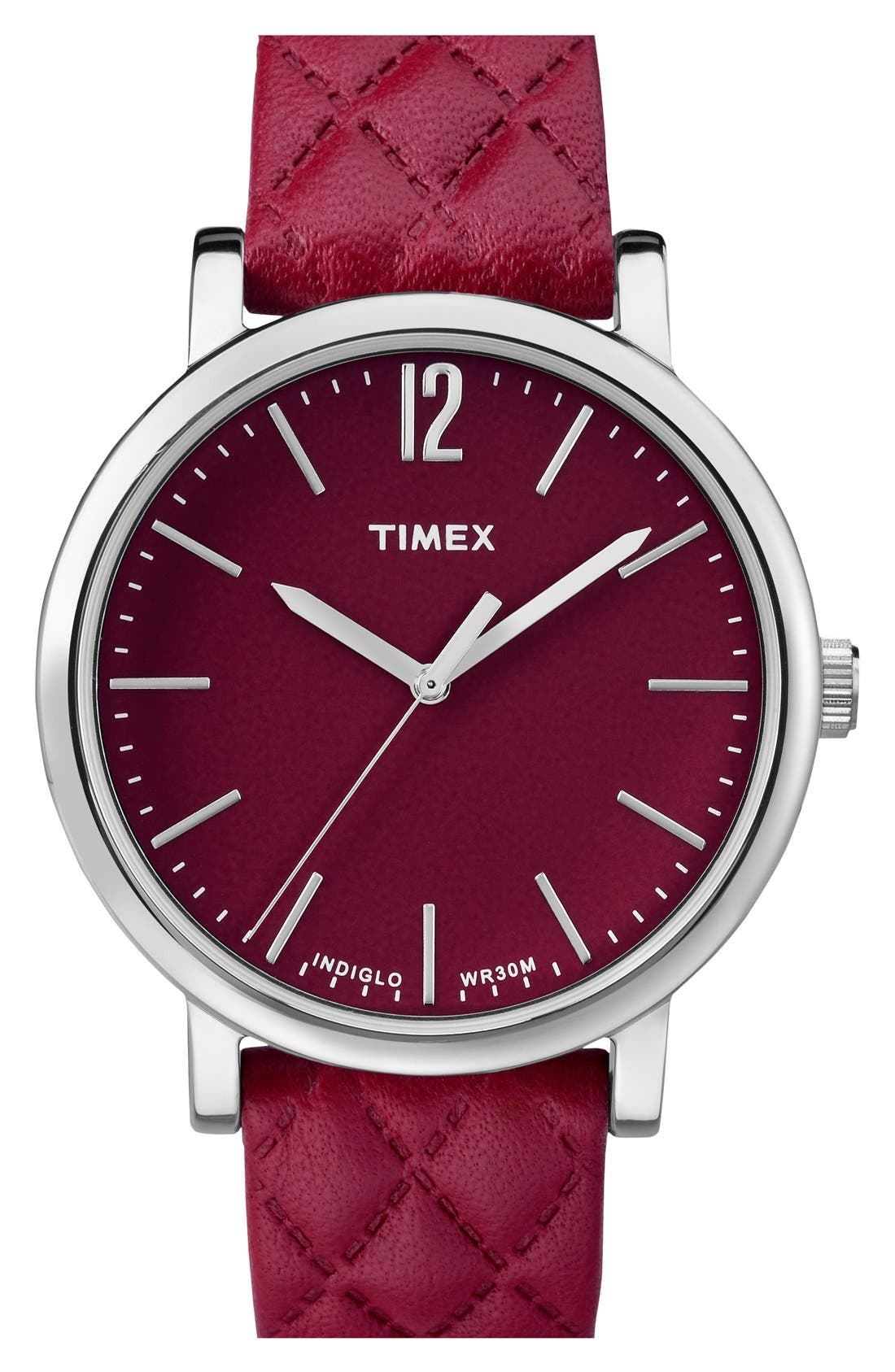 Main Image - Timex® 'Originals' Leather Strap Watch, 38mm
