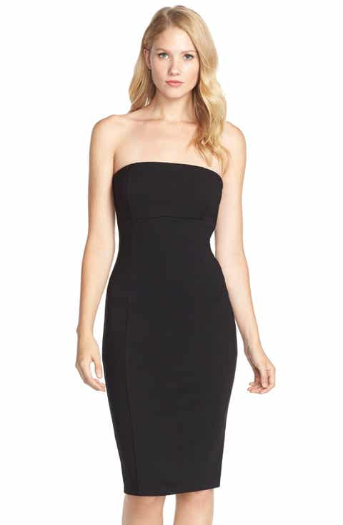 Felicity Coco Brianna Strapless Knit Body Con Dress Nordstrom Exclusive