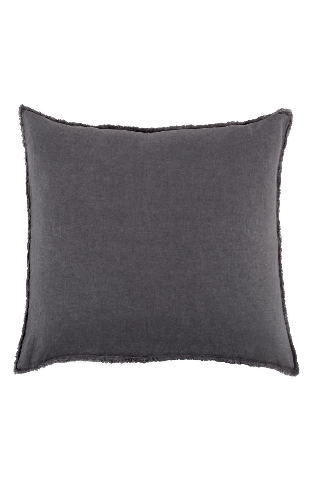 'Blair' Linen Euro Pillow Sham,                             Main thumbnail 1, color,                             Midnight