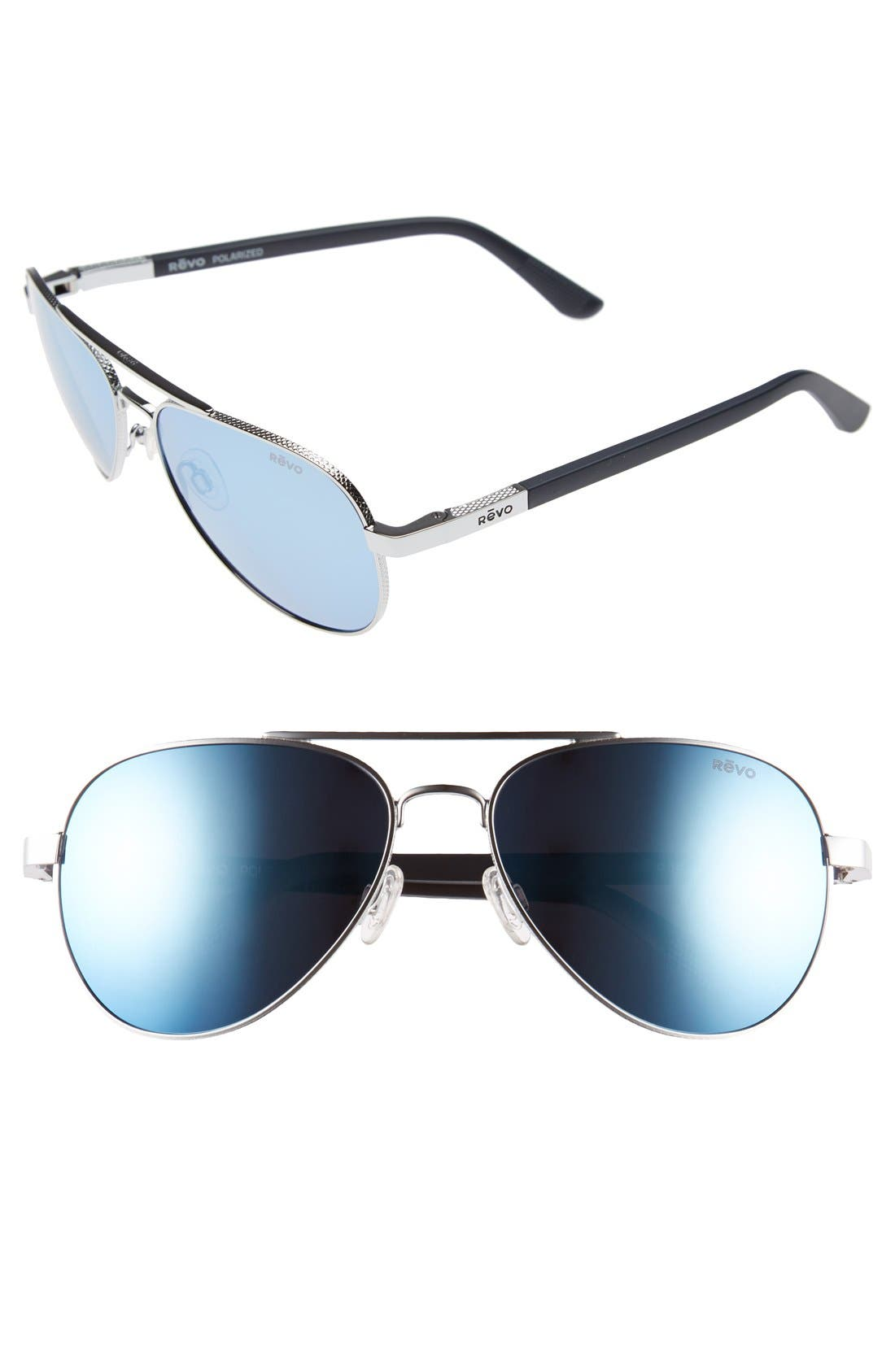 Main Image - Revo 'Raconteur' 58mm Polarized Aviator Sunglasses