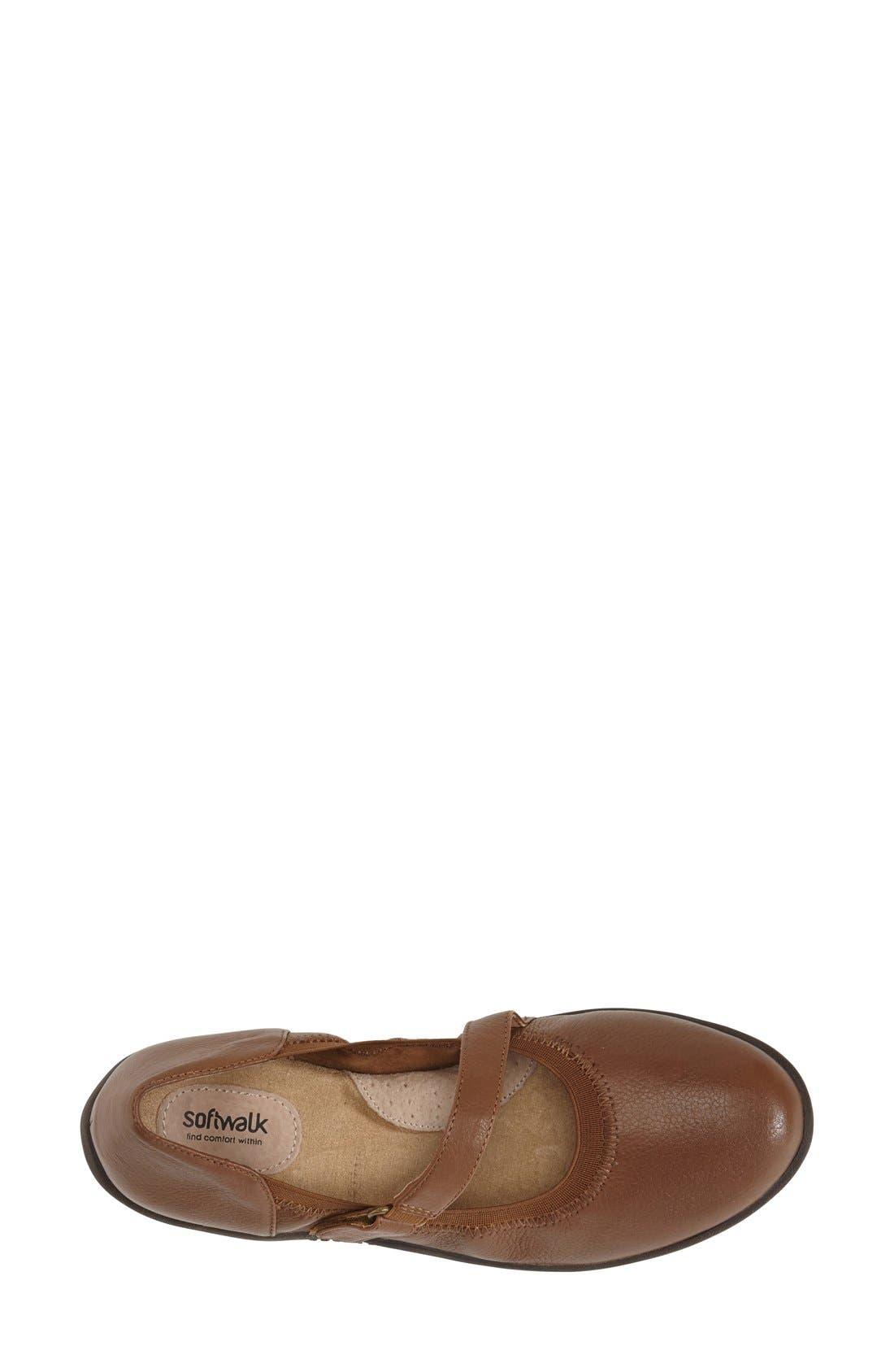 'Hollis' Mary Jane Flat,                             Alternate thumbnail 3, color,                             Luggage