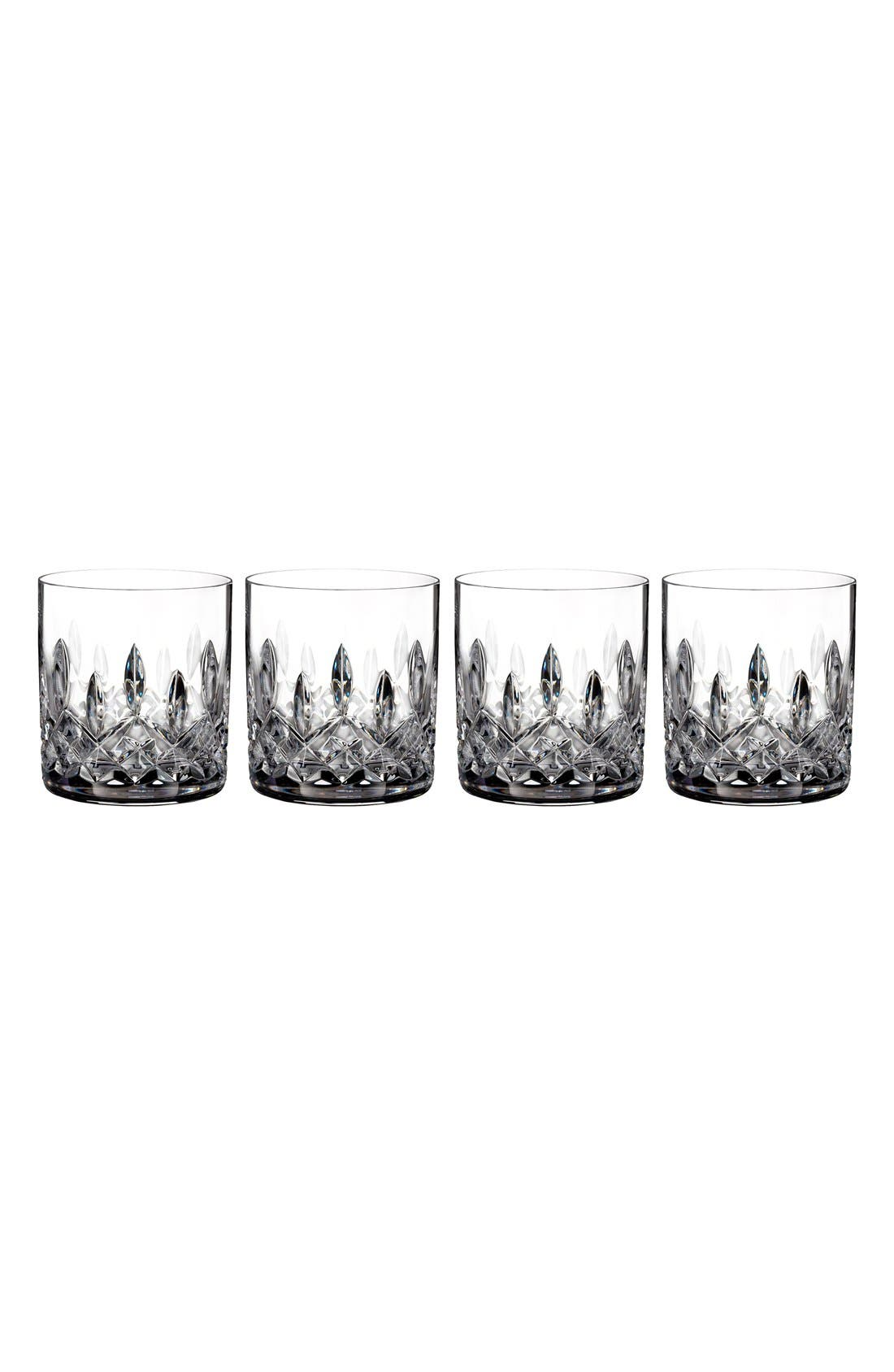 'Lismore' Lead Crystal Straight Sided Tumblers,                         Main,                         color, Clear