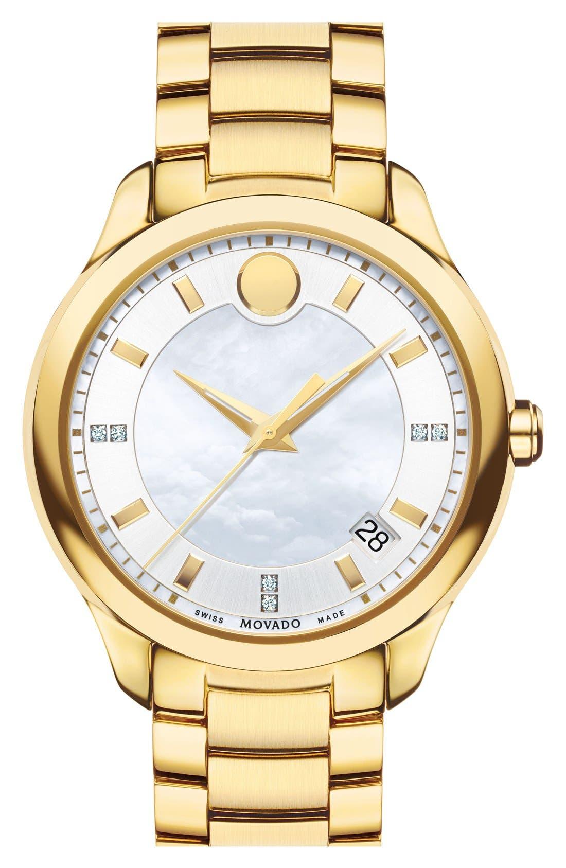 'Bellina' Bracelet Watch, 36mm,                             Main thumbnail 1, color,                             Gold