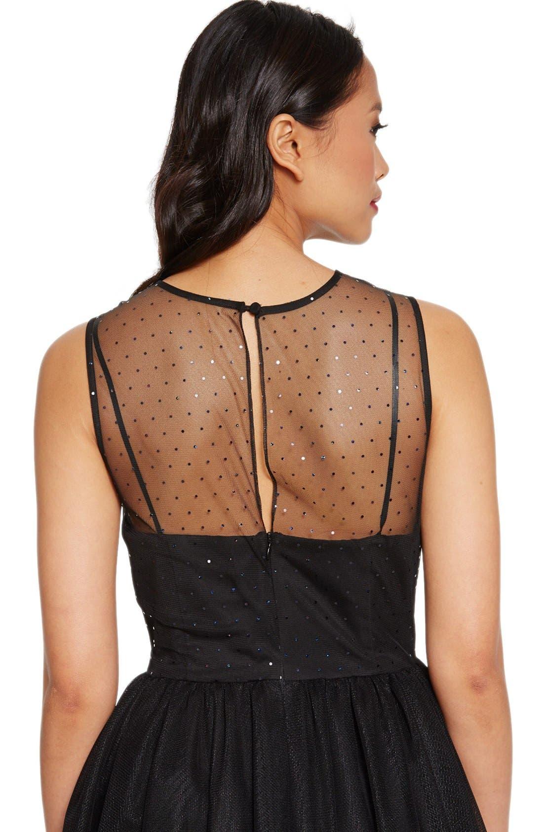 Alternate Image 2  - Donna Morgan Embellished Tulle Fit & Flare Dress