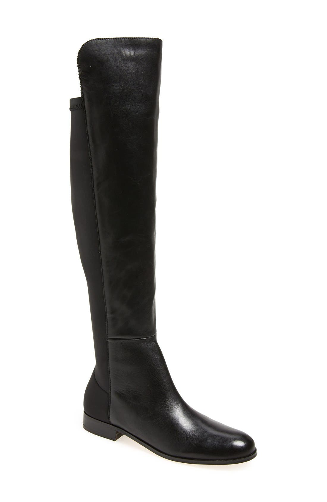 'Laura' Over the Knee Boot,                             Main thumbnail 1, color,                             Black Leather