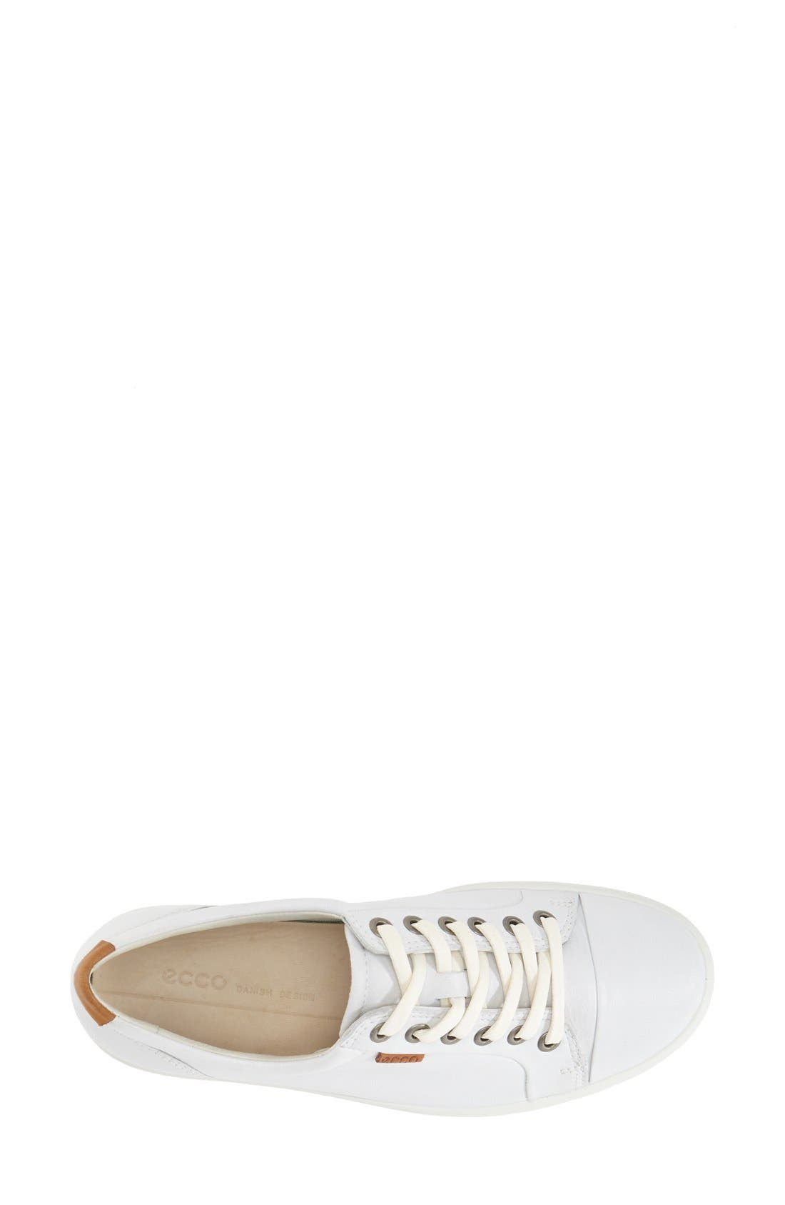 'Soft 7' Cap Toe Sneaker,                             Alternate thumbnail 3, color,                             White
