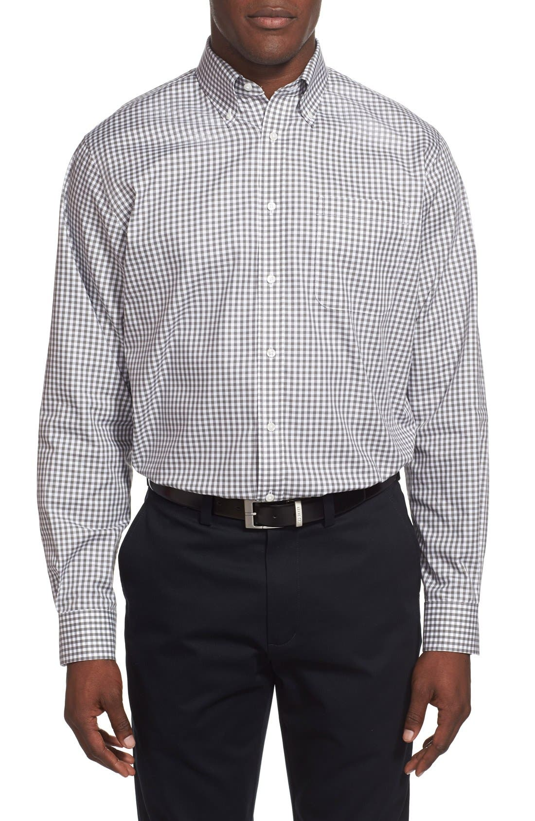 Nordstrom Men's Shop Traditional Fit Non-Iron Gingham Dress Shirt