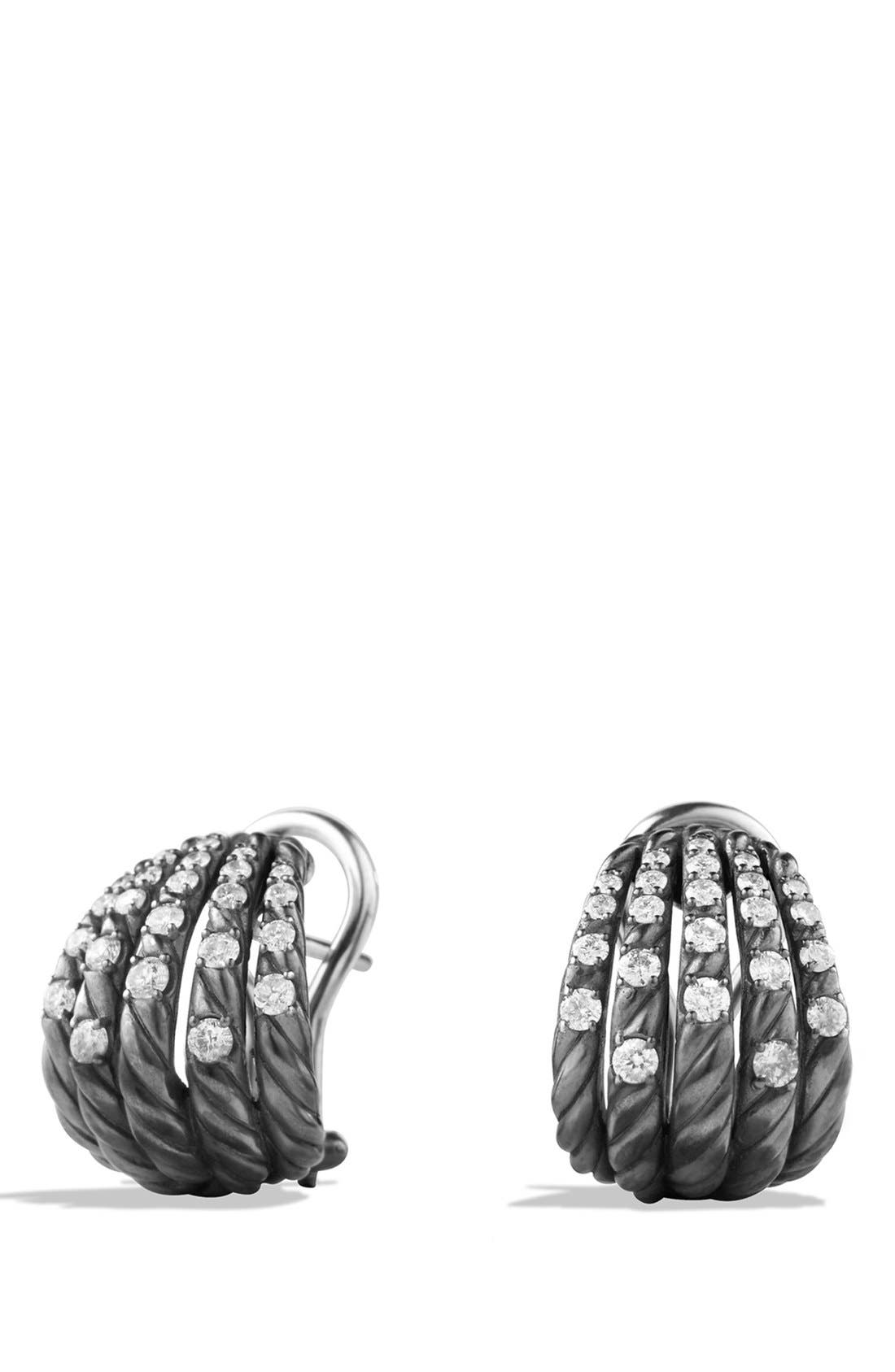 Alternate Image 1 Selected - David Yurman 'Tempo' Earrings with Diamonds