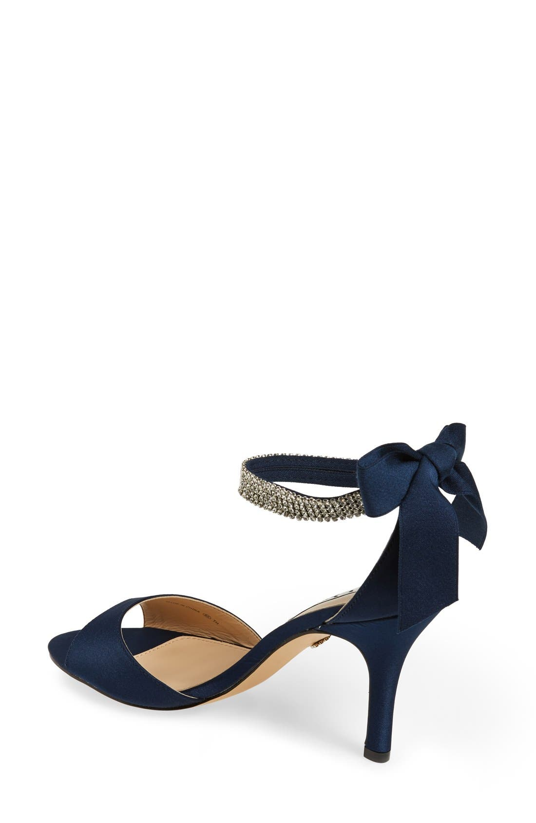 Alternate Image 2  - Nina 'Vinnie' Crystal Embellished Ankle Strap Sandal (Women)